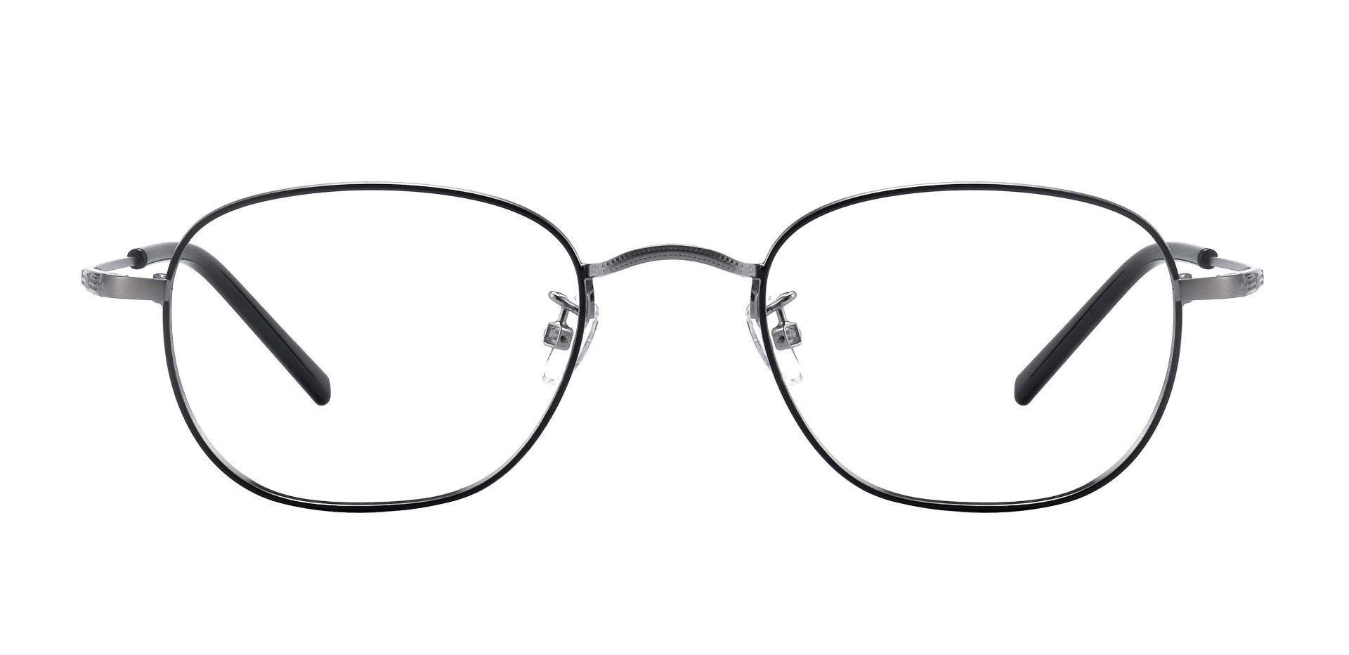 Caspian Oval Prescription Glasses - Black/pewter