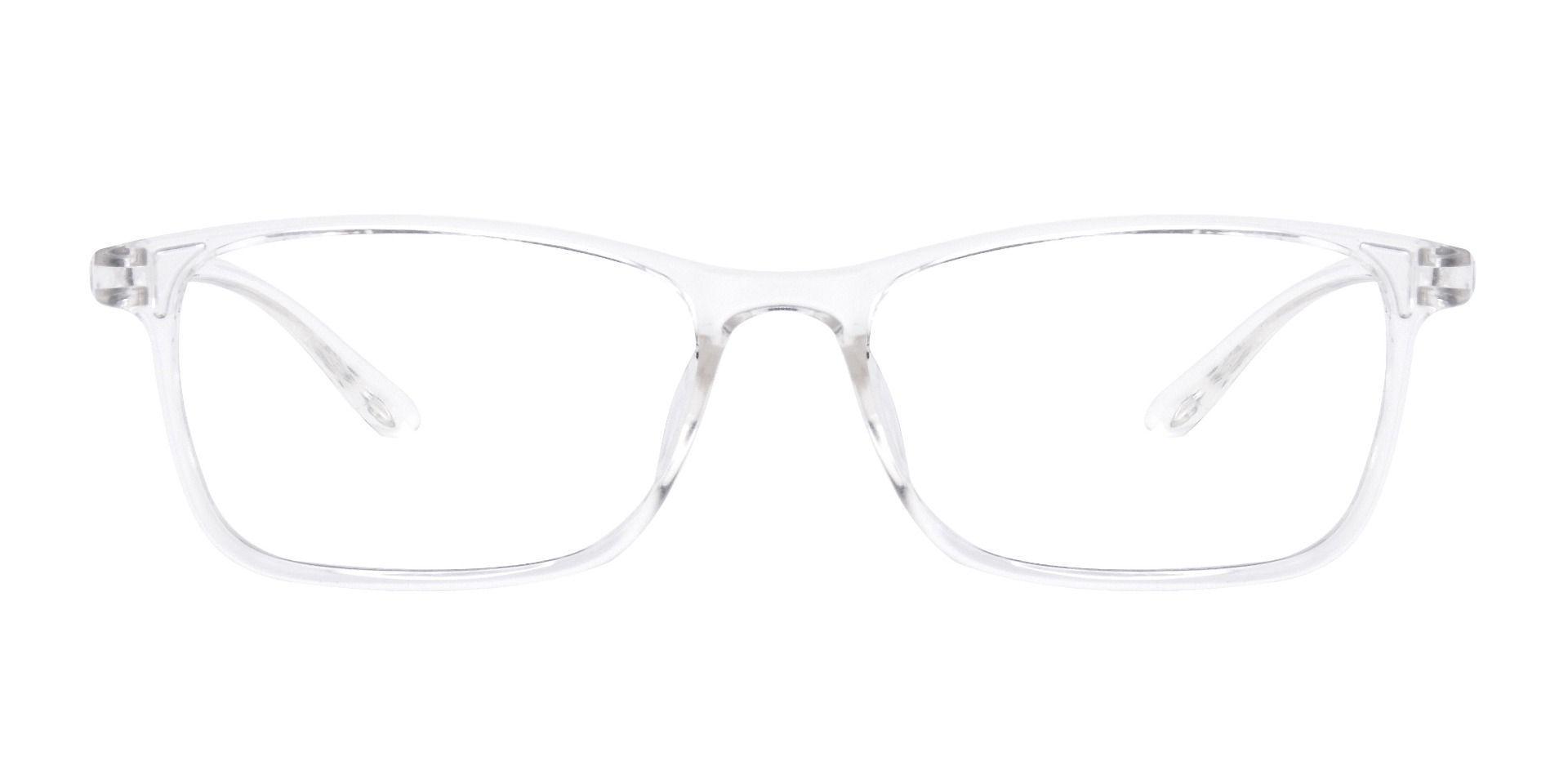 Luna Rectangle Prescription Glasses - Crystal To Grey