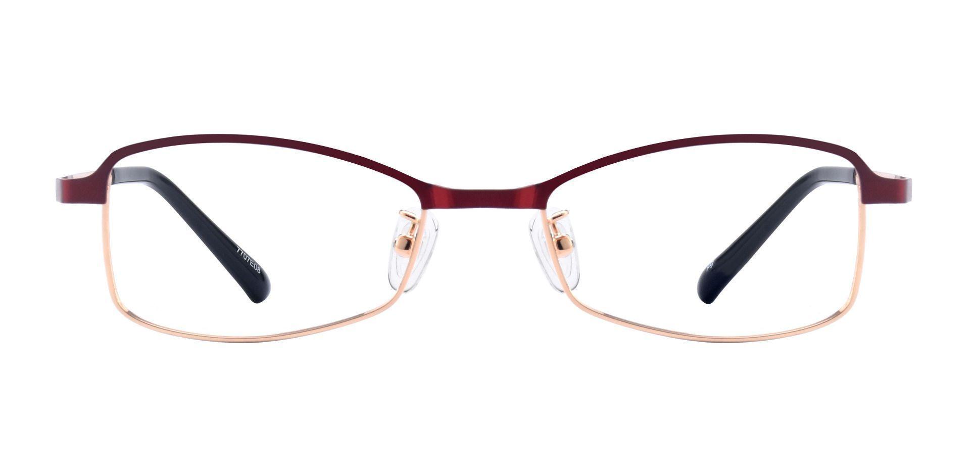 Shelby Rectangle Blue Light Blocking Glasses - Red
