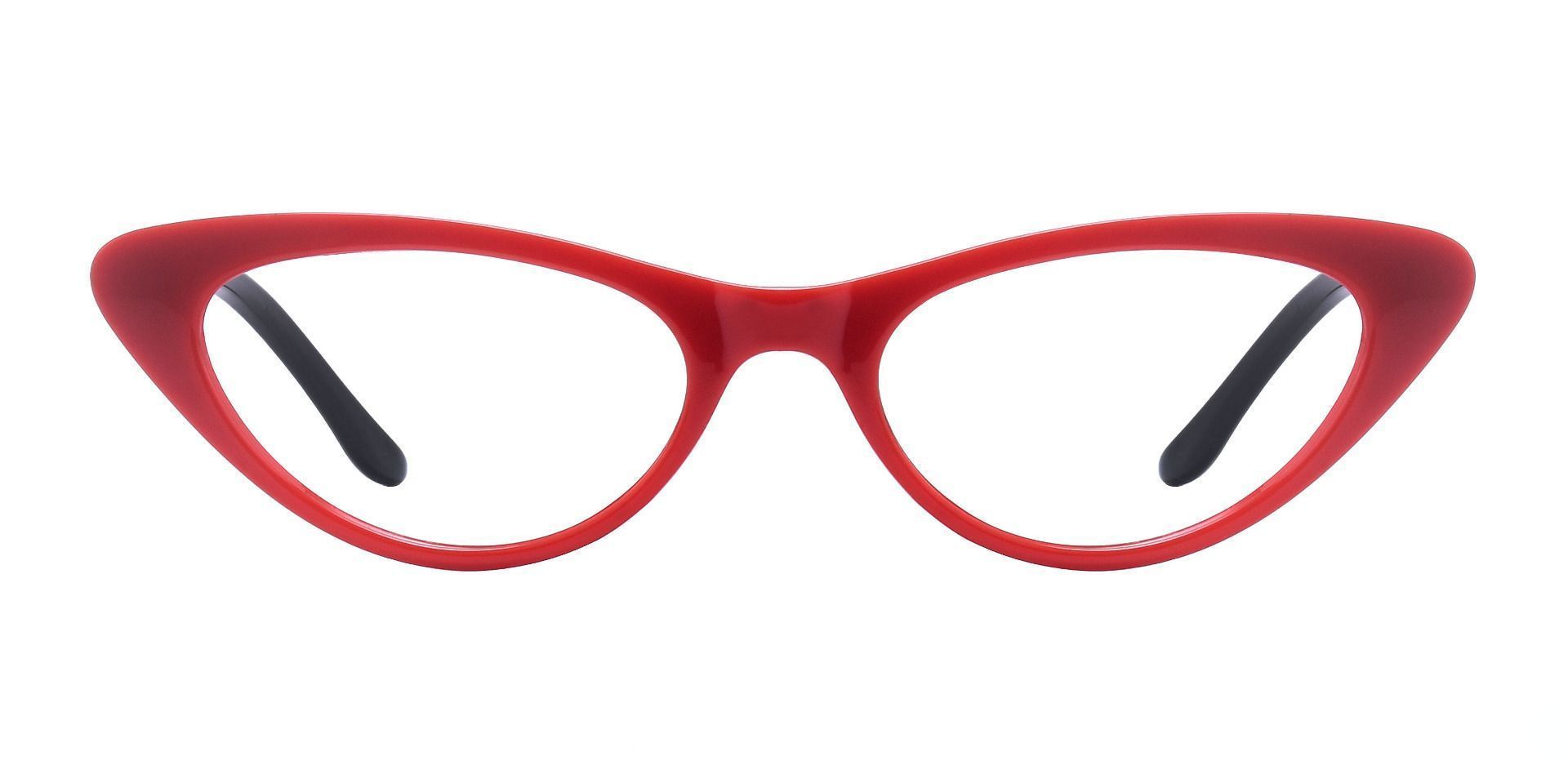 Sassy Cat-Eye Prescription Glasses - Red