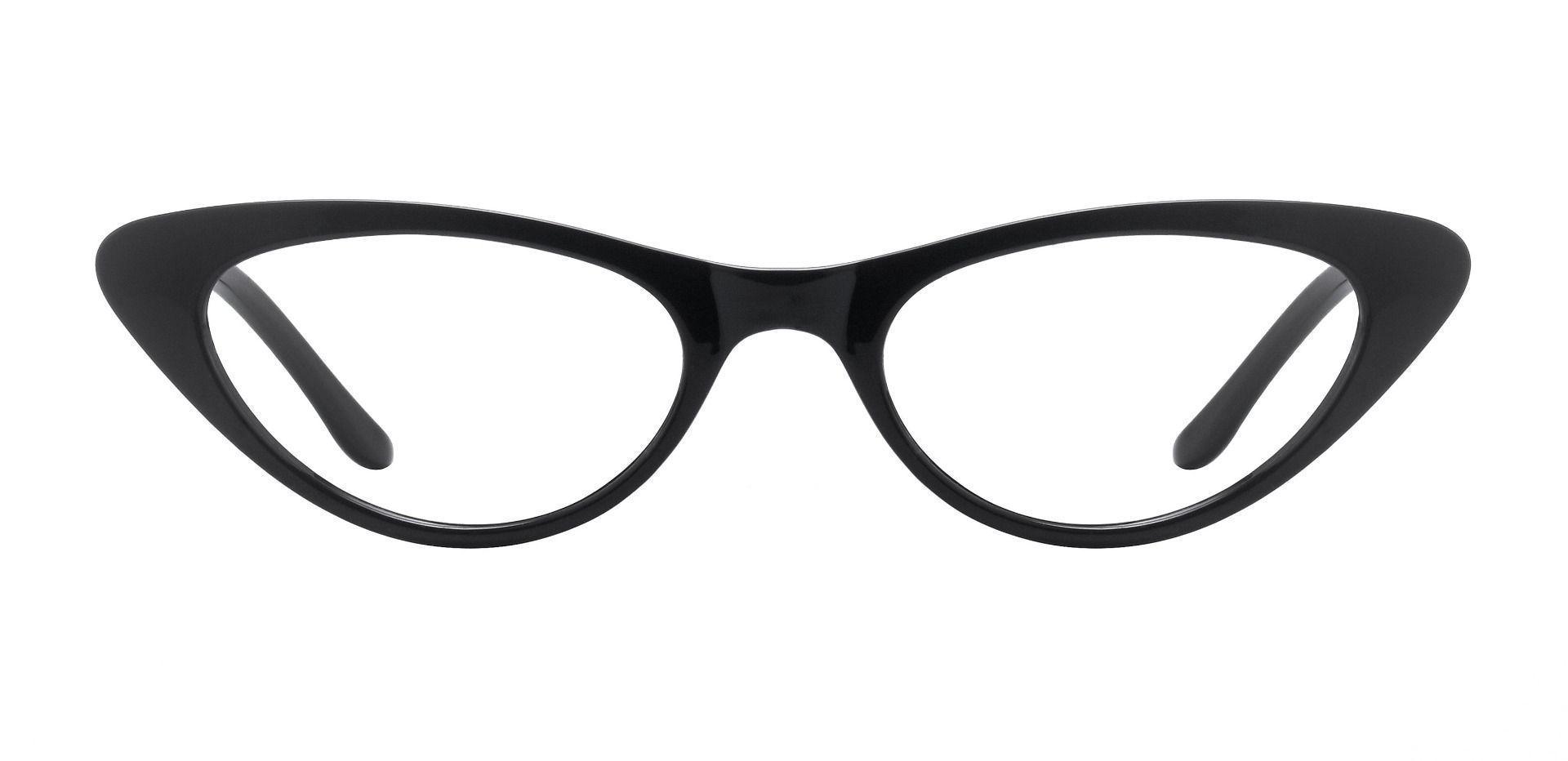 Sassy Cat-Eye Prescription Glasses - Black