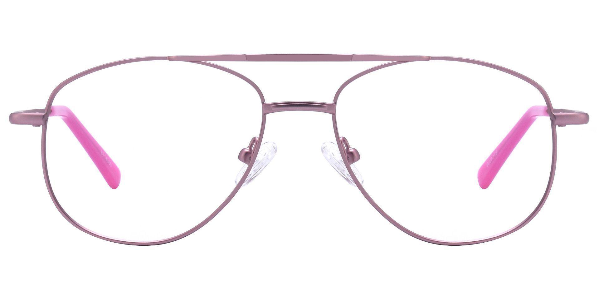 Dwight Aviator Single Vision Glasses - Pink