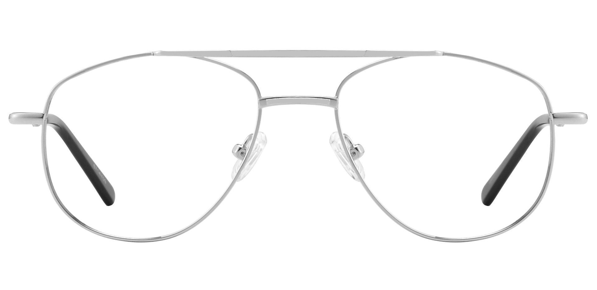 Dwight Aviator Single Vision Glasses - Clear