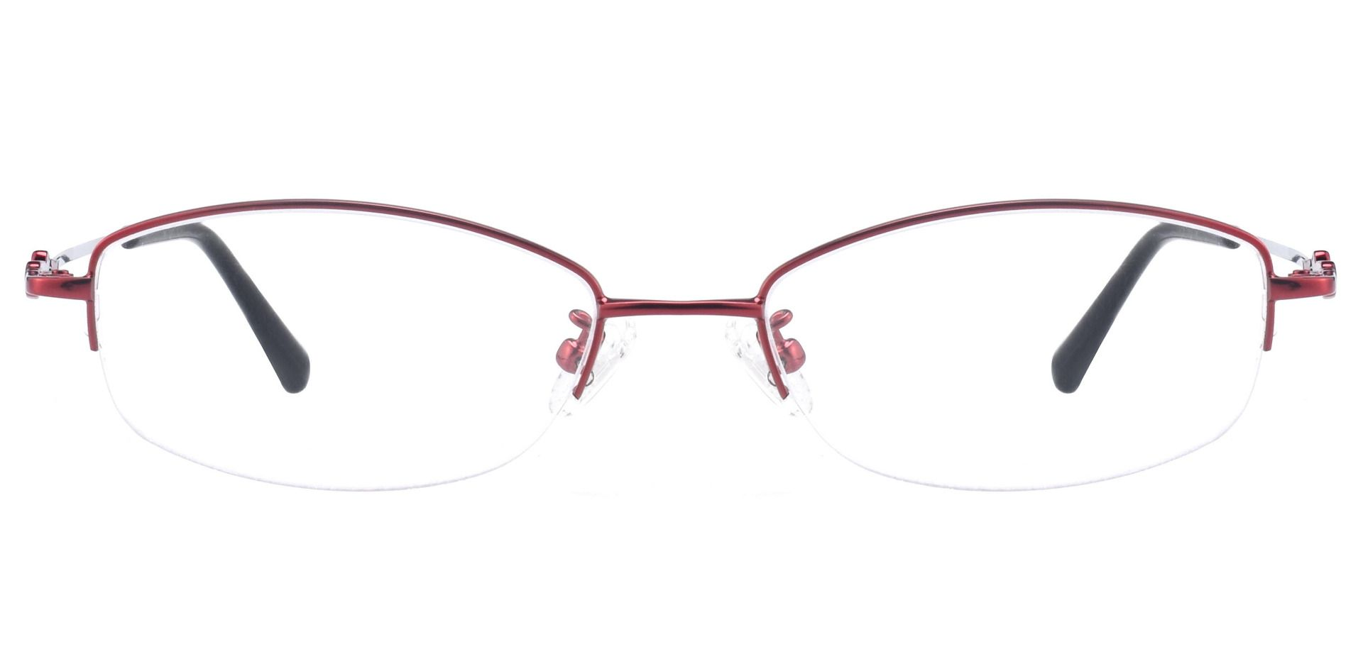 Meadowsweet Oval Prescription Glasses - Red