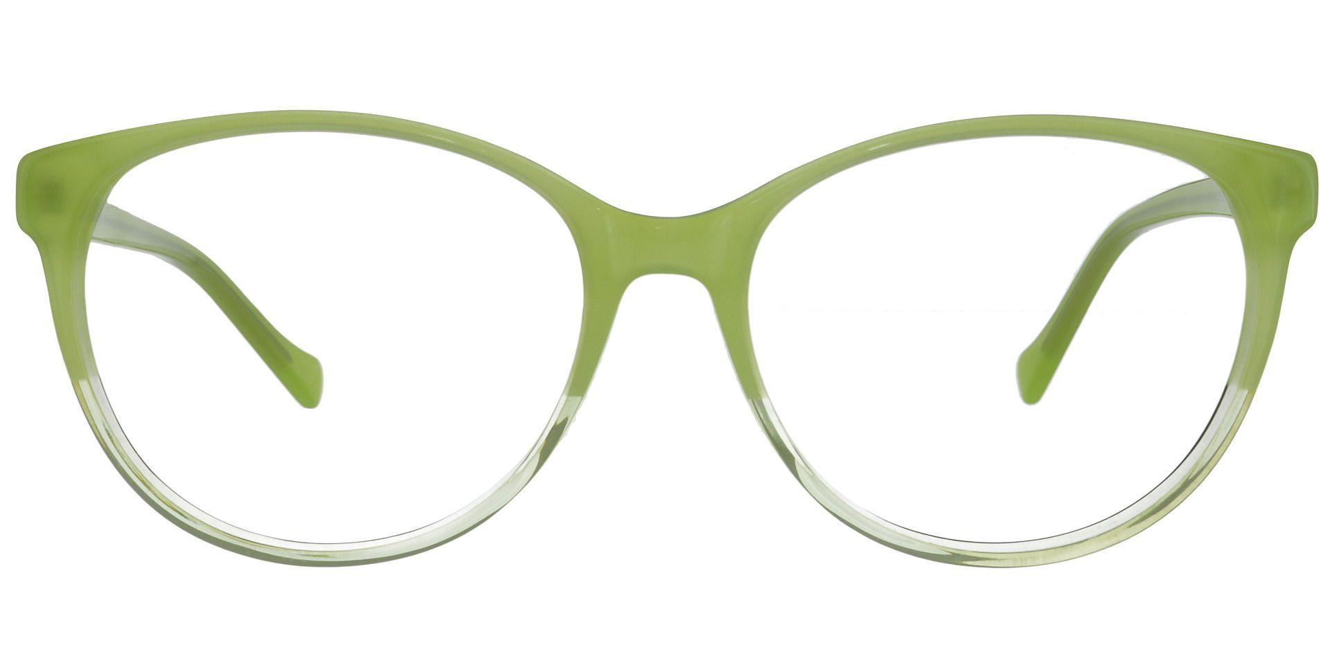 Genovia Oval Prescription Glasses - Green