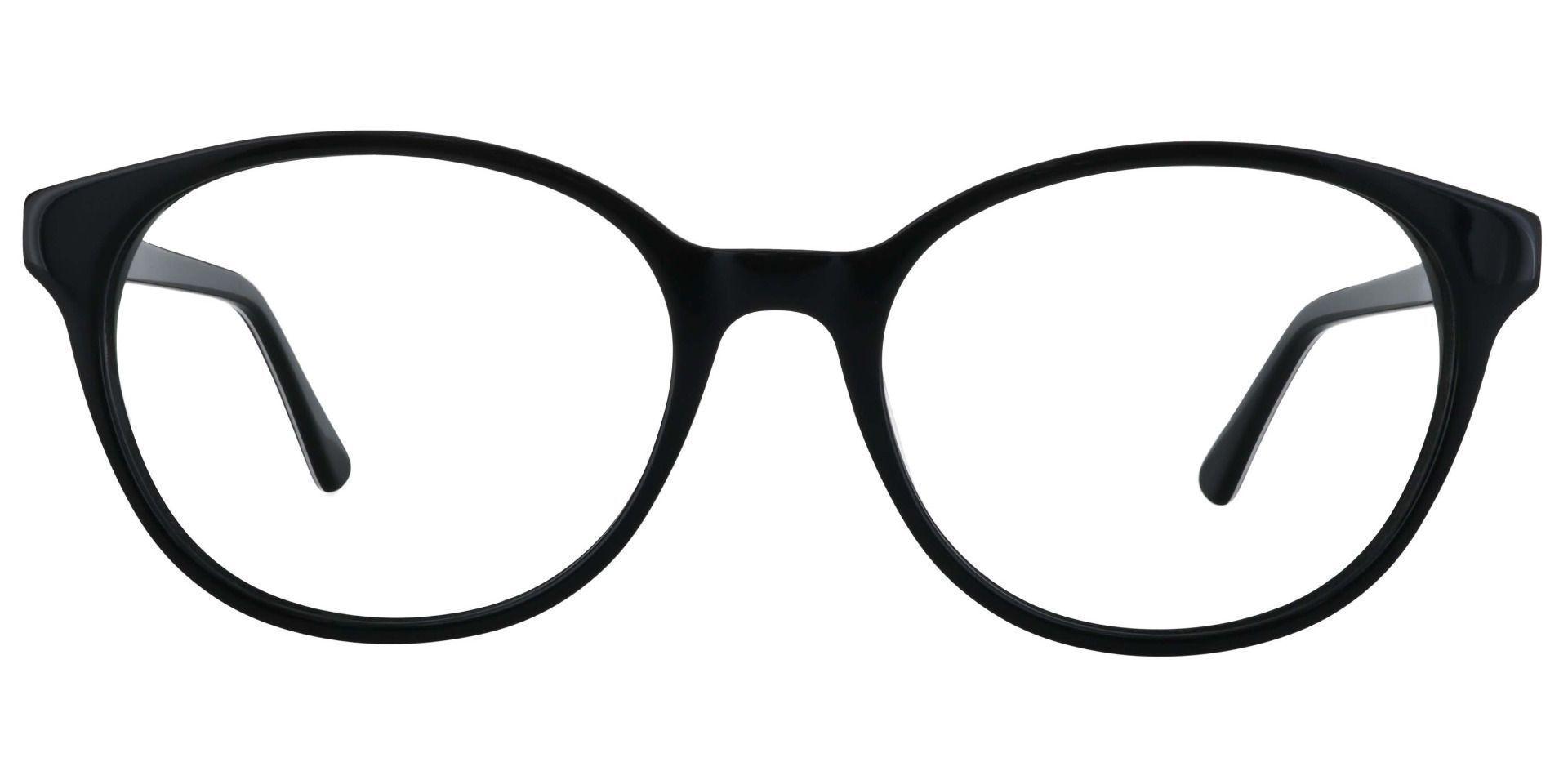 Cadet Oval Prescription Glasses - Black