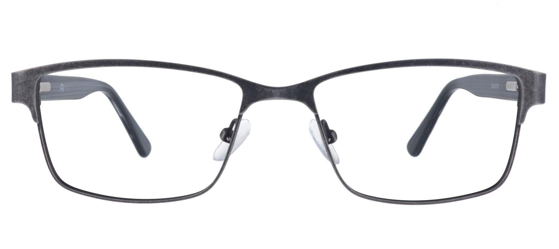 Bishop Rectangle Prescription Glasses - Gray