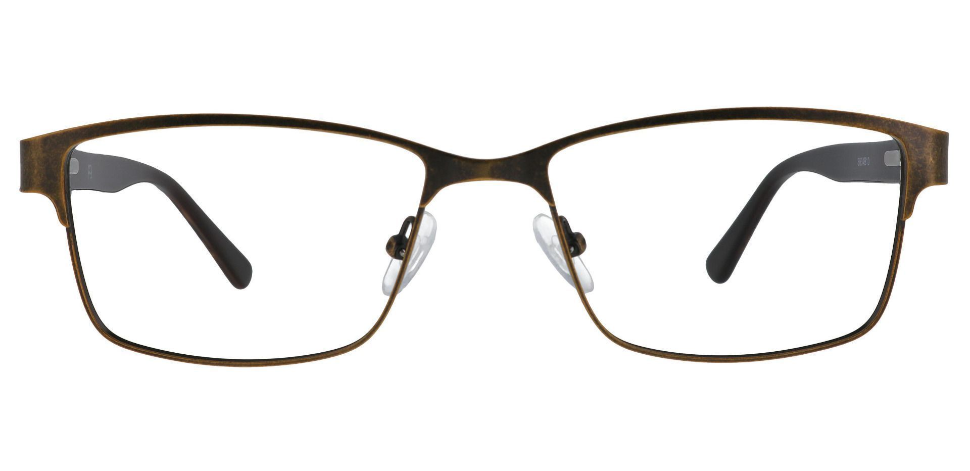 Bishop Rectangle Prescription Glasses - Brown