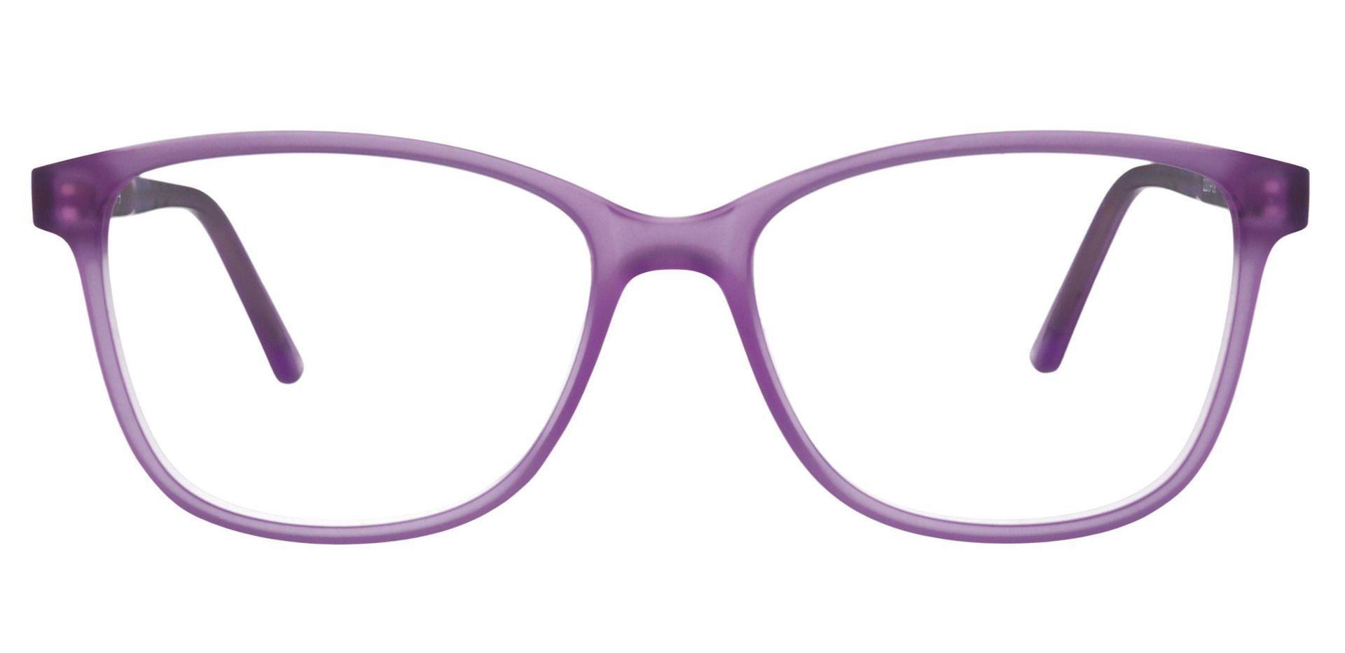 Argyle Rectangle Prescription Glasses - Purple
