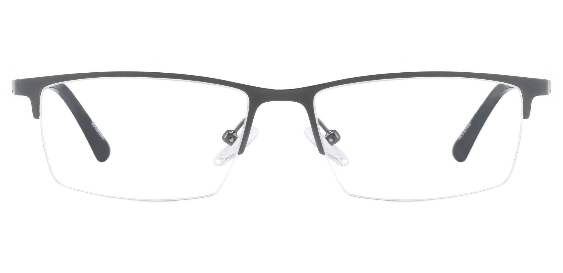 Lombard Rectangle Prescription Glasses - Gray