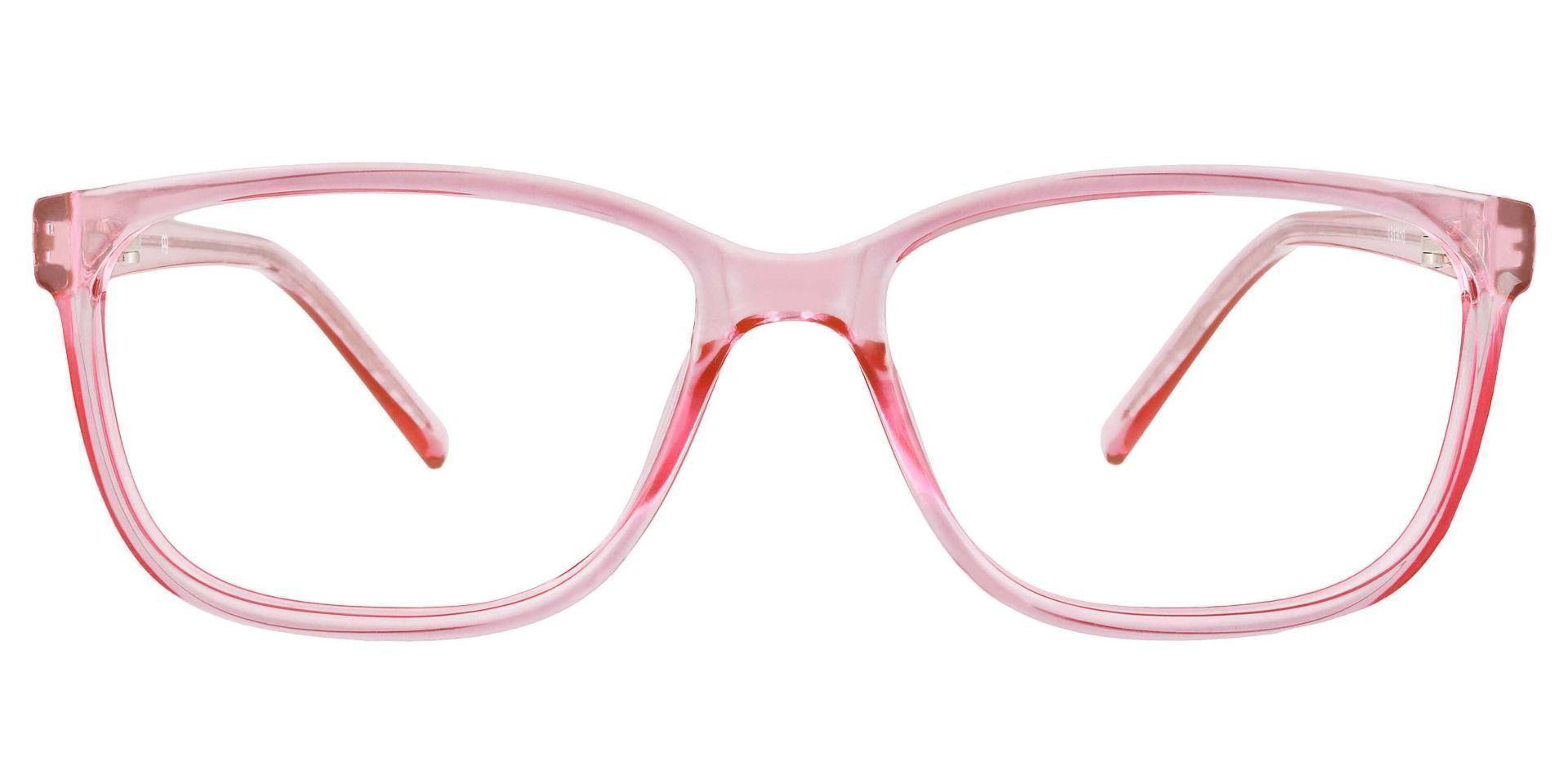 Neville Rectangle Prescription Glasses - Pink