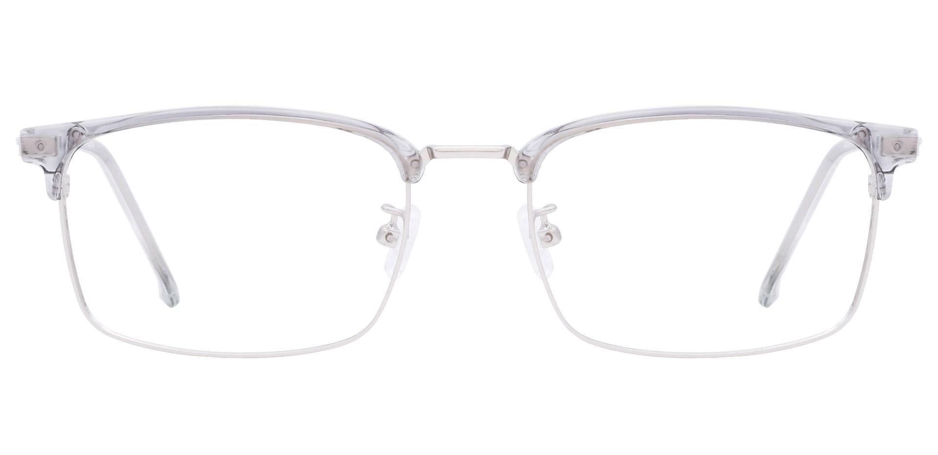 Igby Browline Prescription Glasses - Grey Crystal