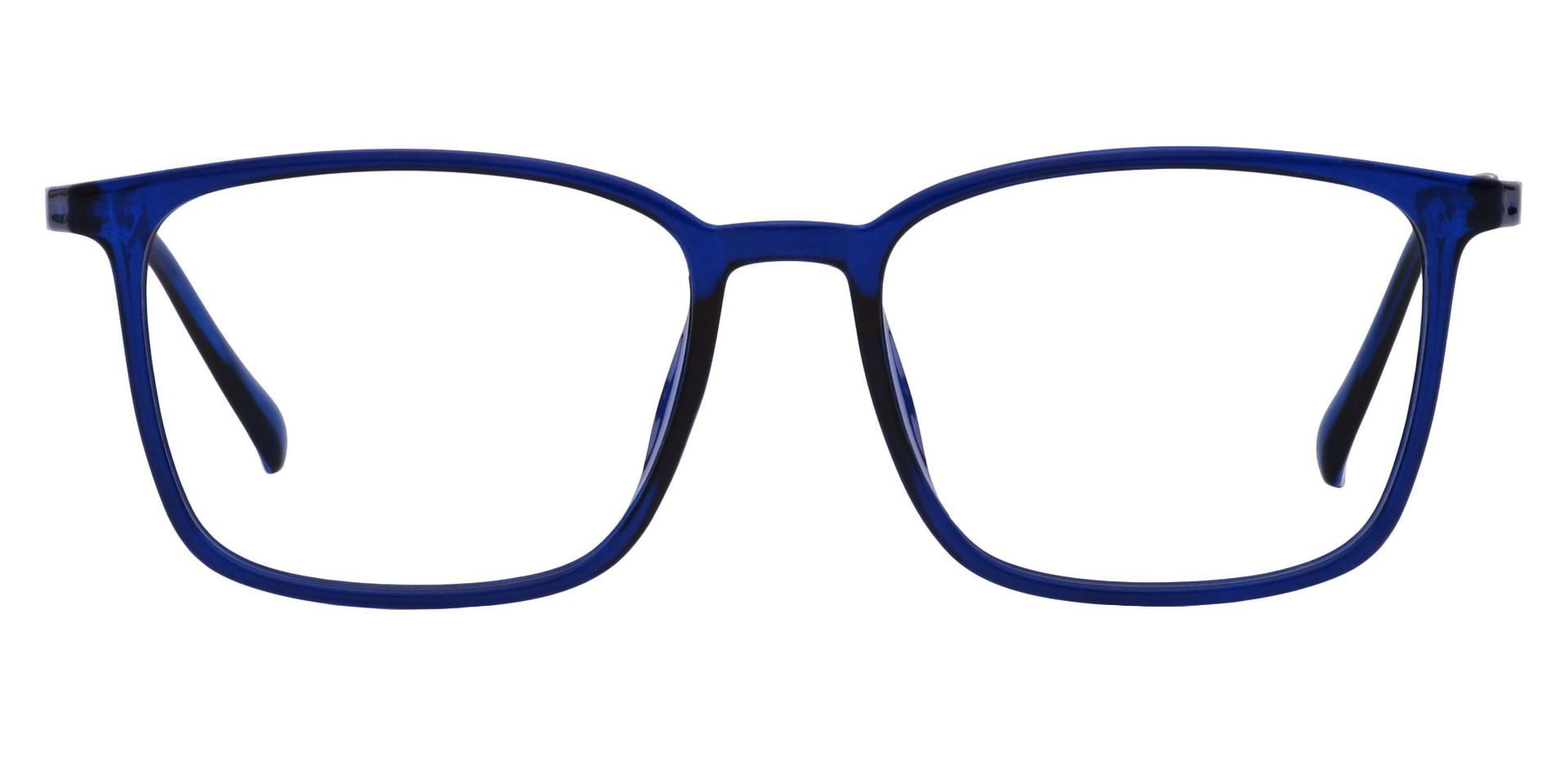 Hayworth Rectangle Prescription Glasses - Blue