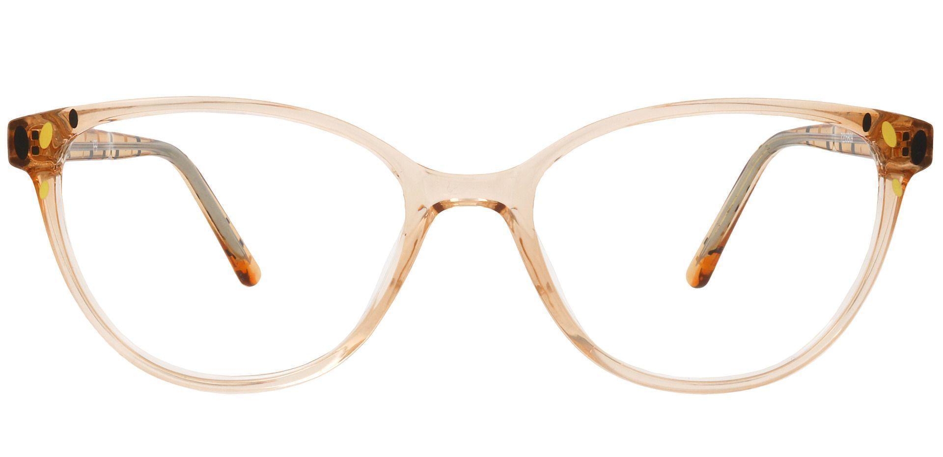 Carma Oval Prescription Glasses - Brown