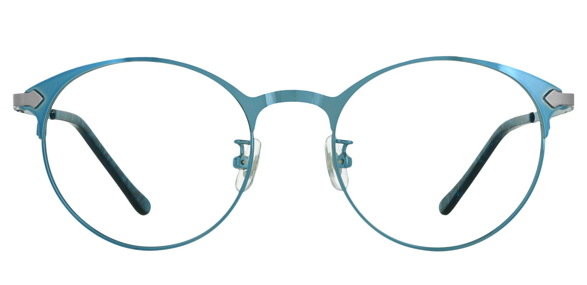 Crest Round Prescription Glasses - Blue