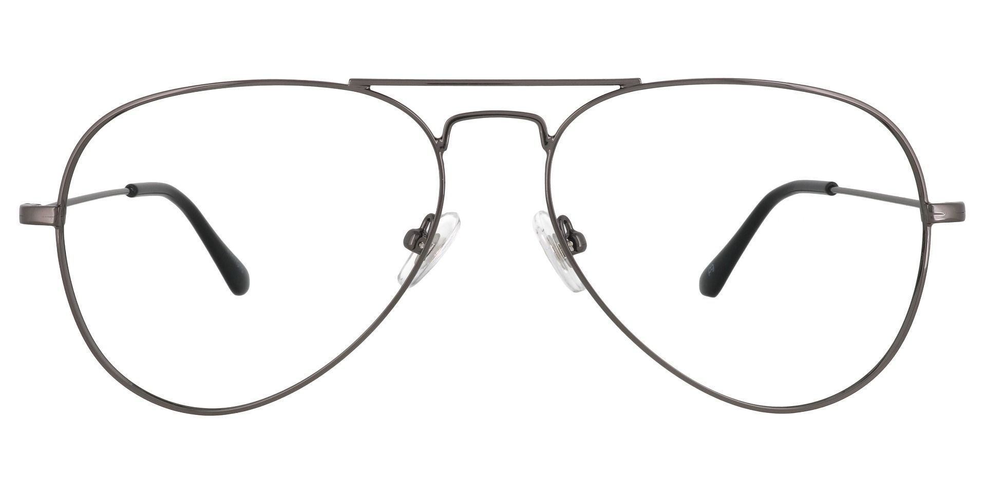 Memphis Aviator Blue Light Blocking Glasses - Gray