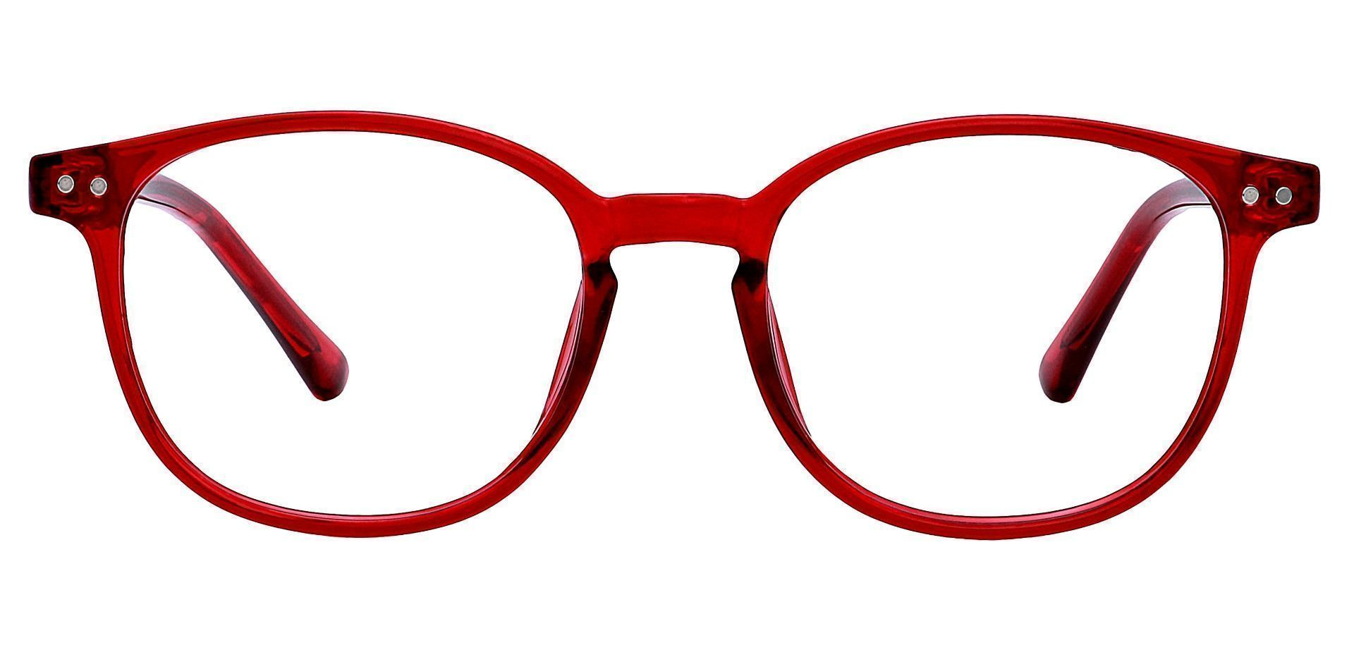 Holstein Oval Prescription Glasses - Red