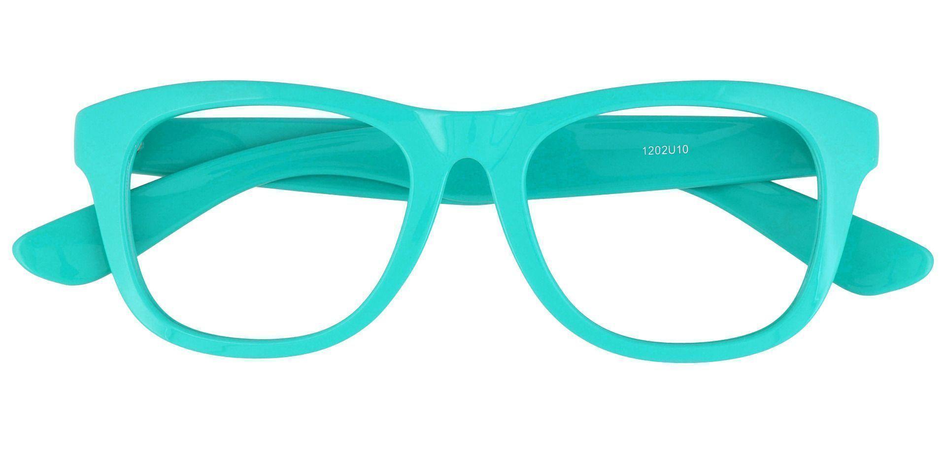 Callie Square Non-Rx Glasses - Blue