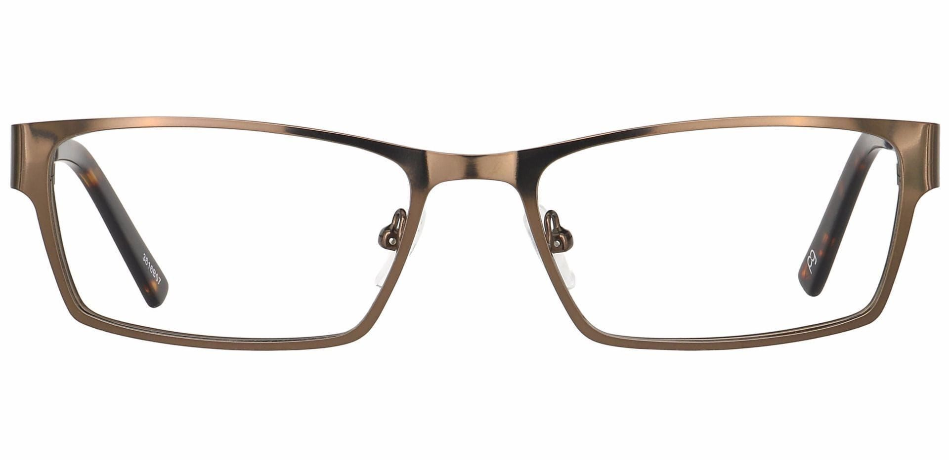 Vin Rectangle Progressive Glasses - Brown