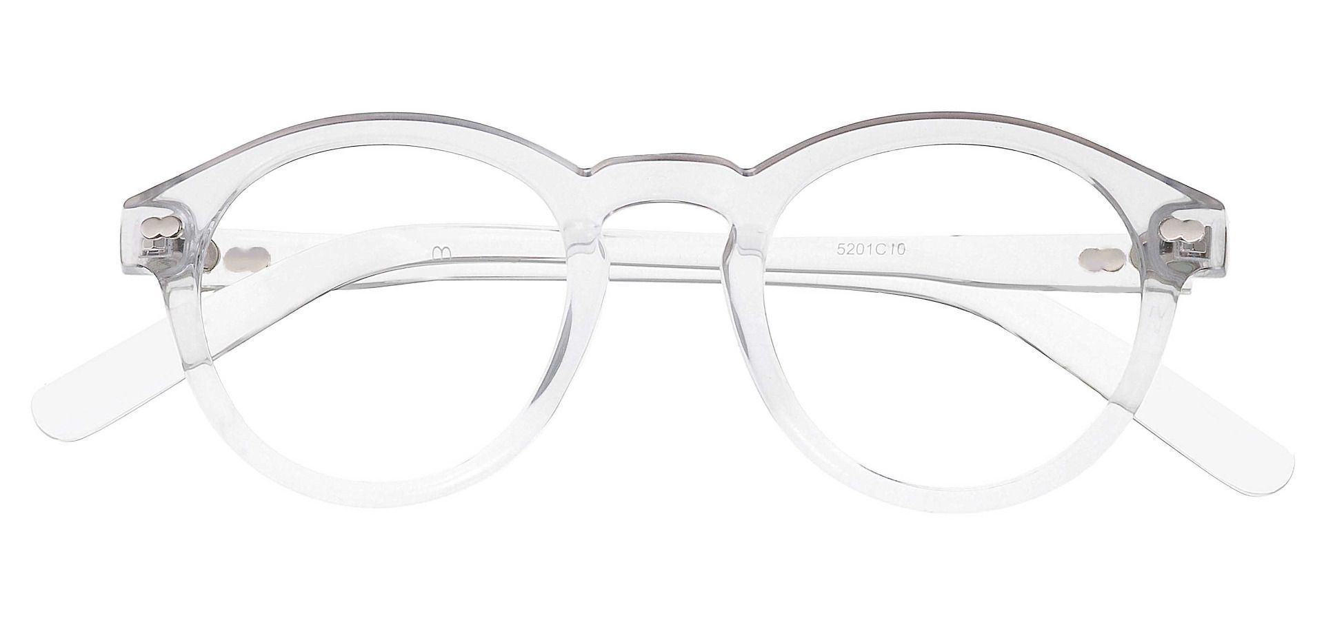 Vee Round Lined Bifocal Glasses - Clear