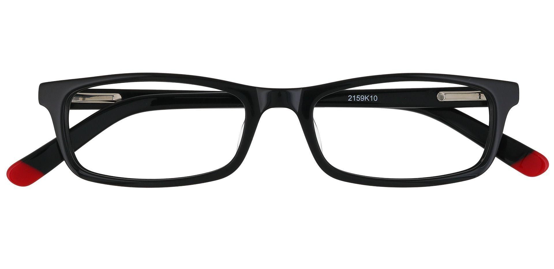 Palisades Rectangle Single Vision Glasses - Black