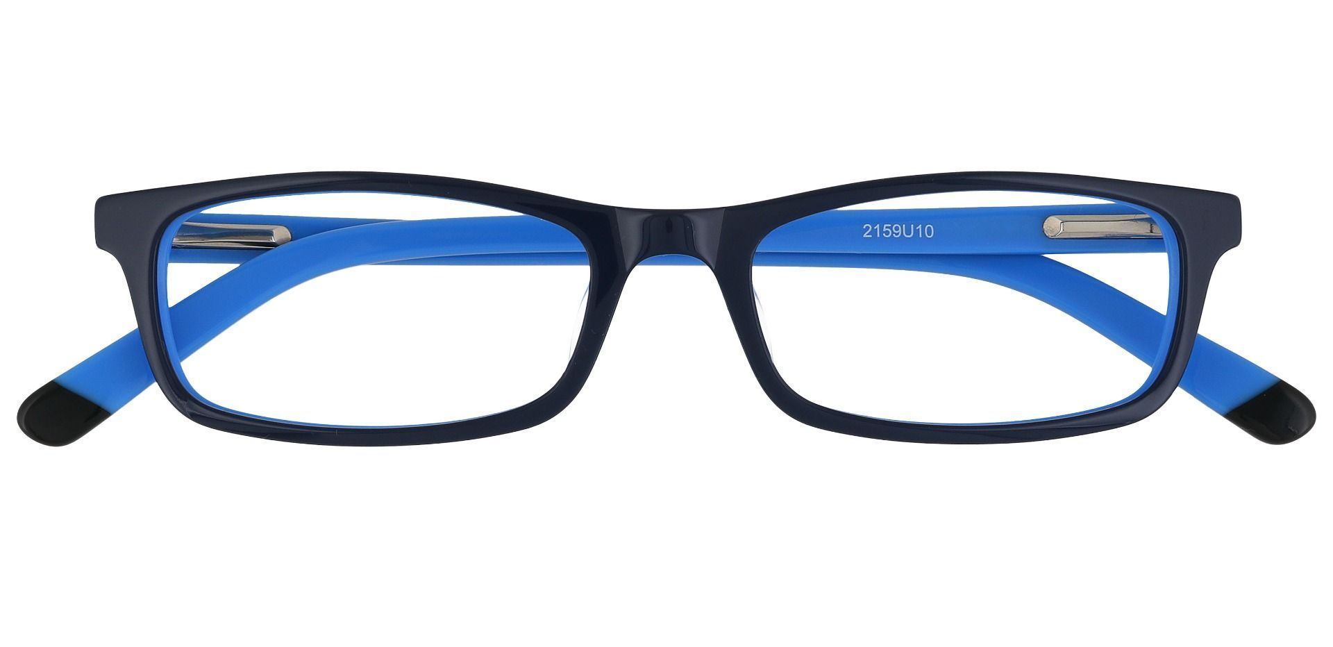 Palisades Rectangle Single Vision Glasses - Blue
