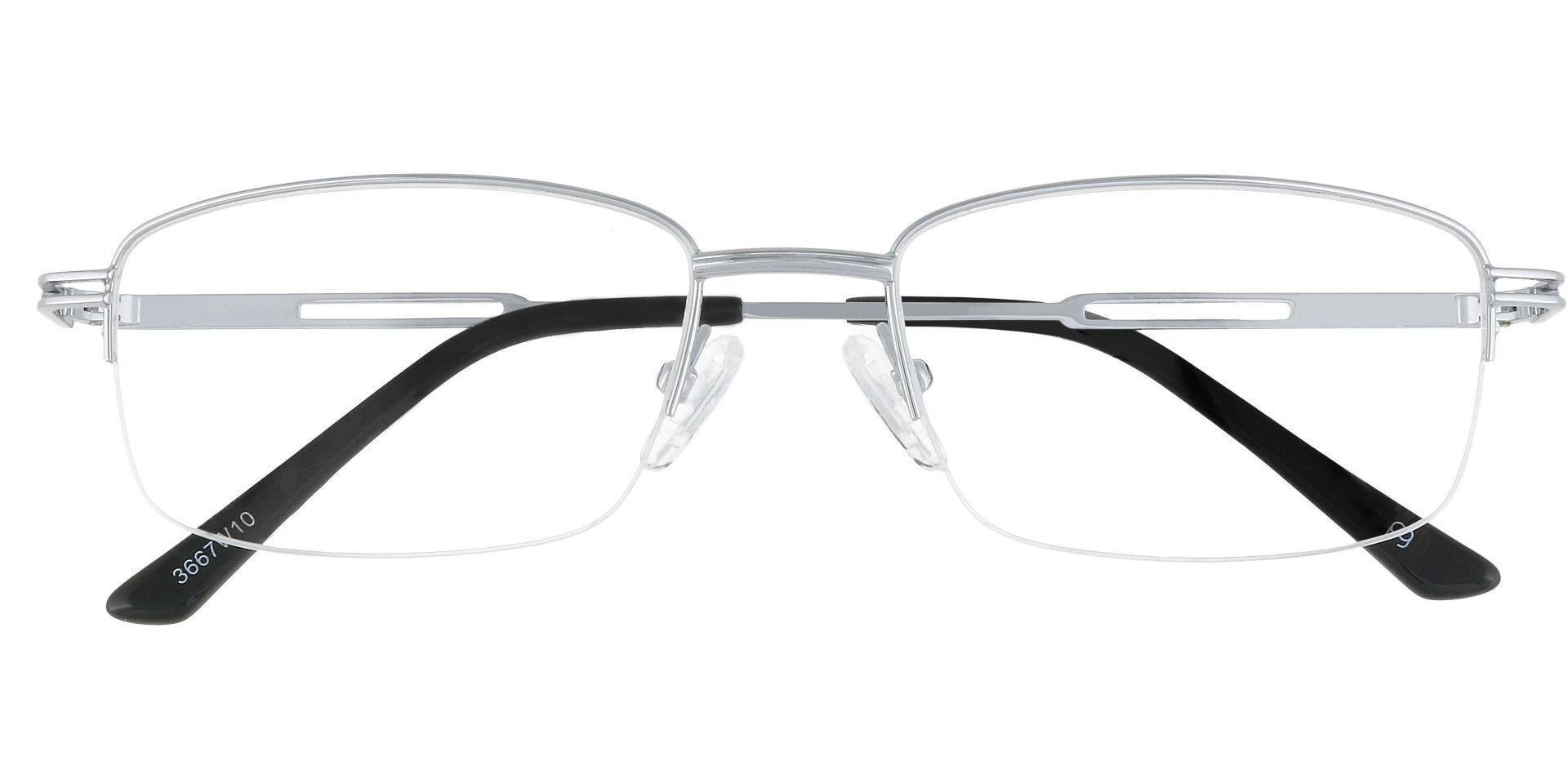 Stewart Rectangle Prescription Glasses - White