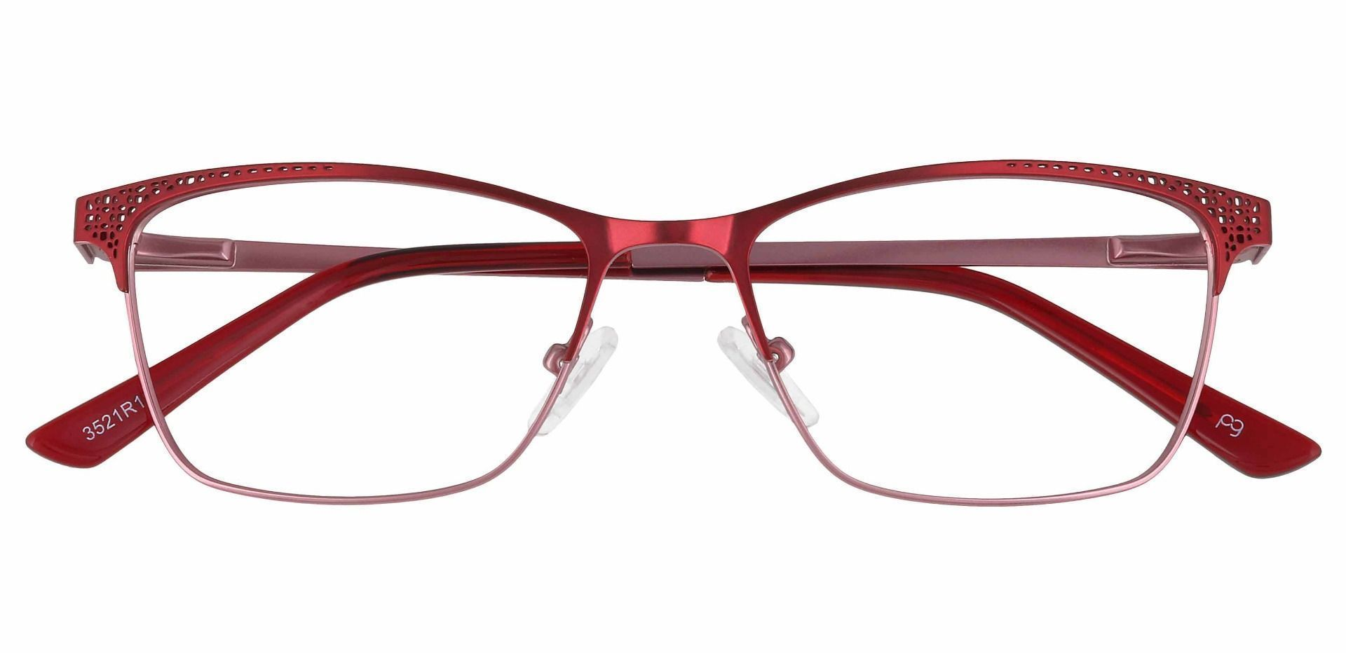 Paige Rectangle Prescription Glasses - Red