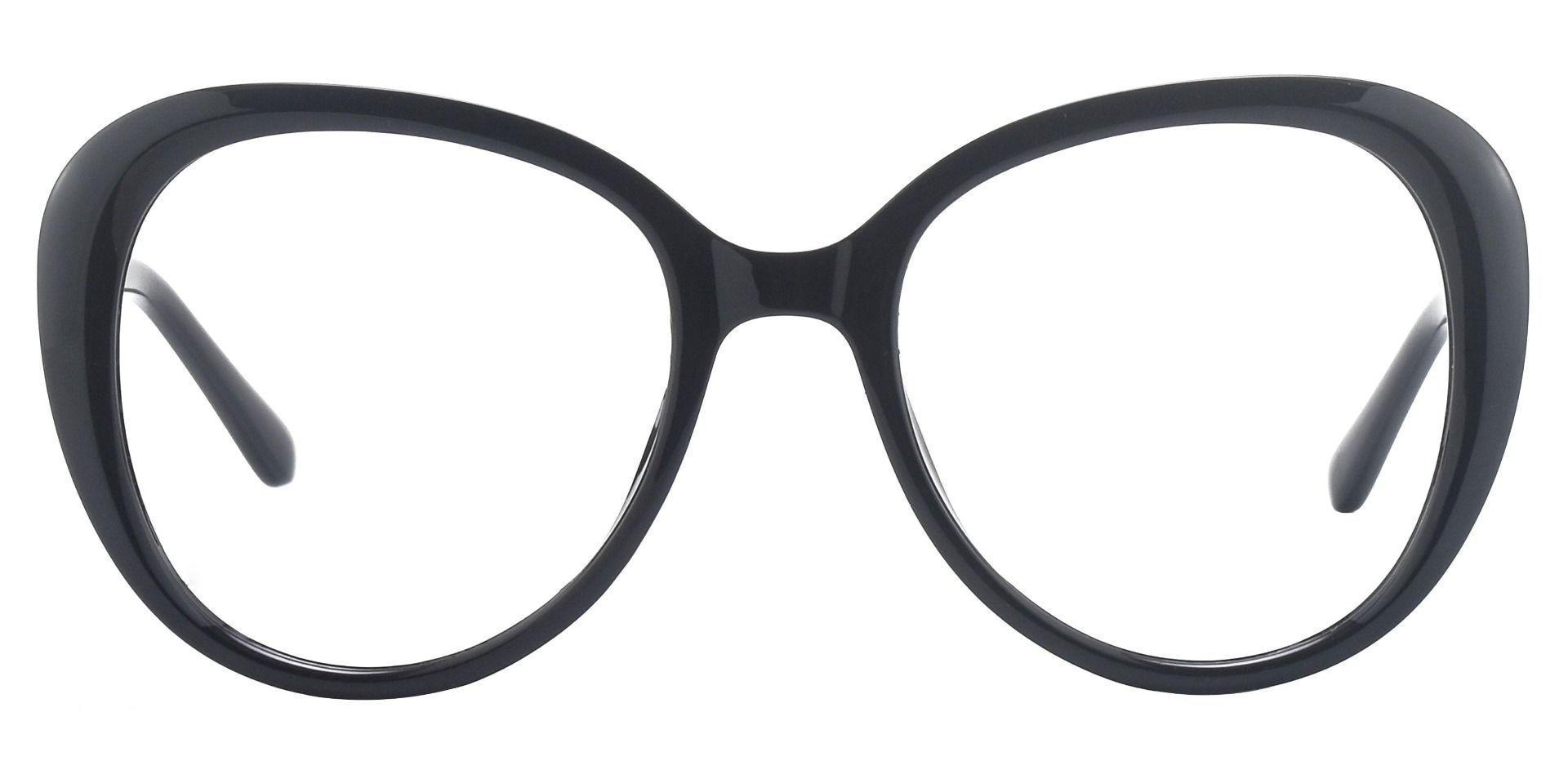 Sheridan Oval Non-Rx Glasses - Black