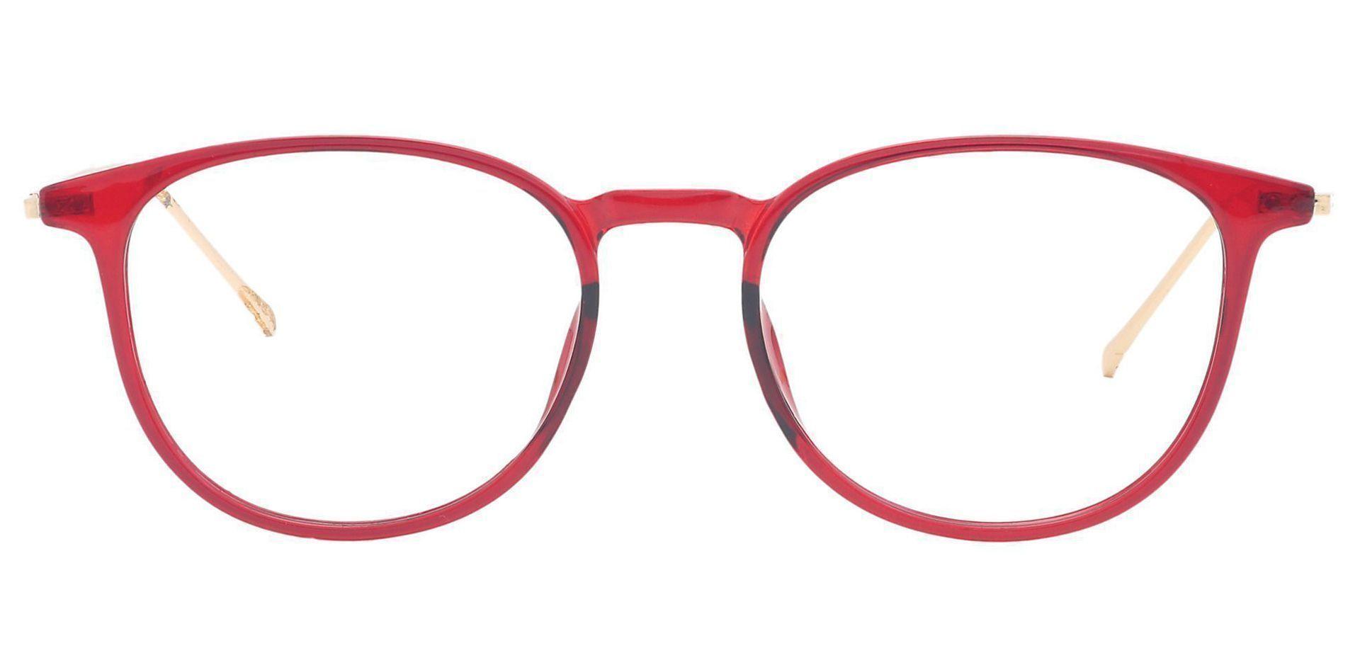 Elliott Round Prescription Glasses - Red