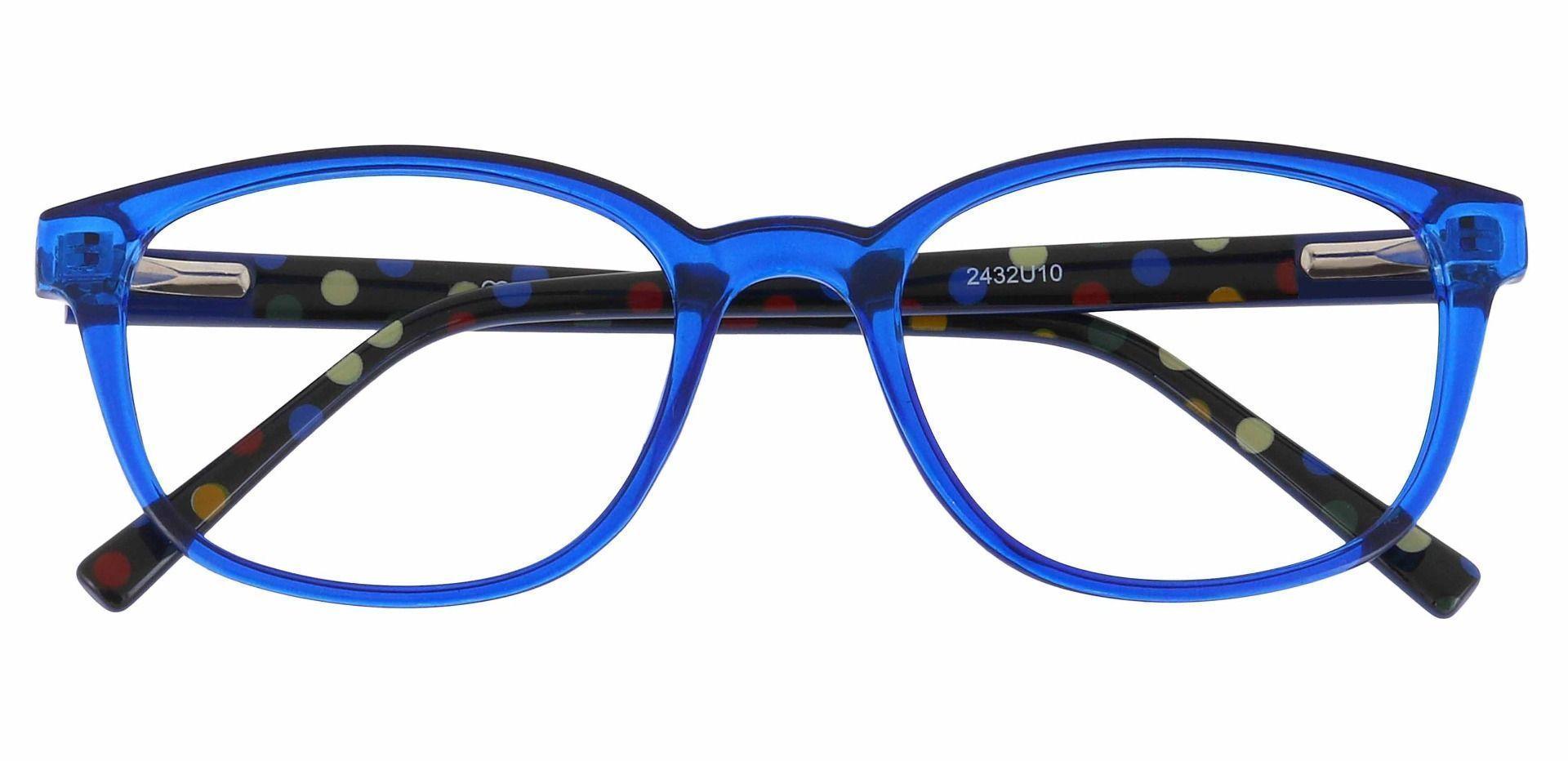 Branson Rectangle Prescription Glasses - Blue