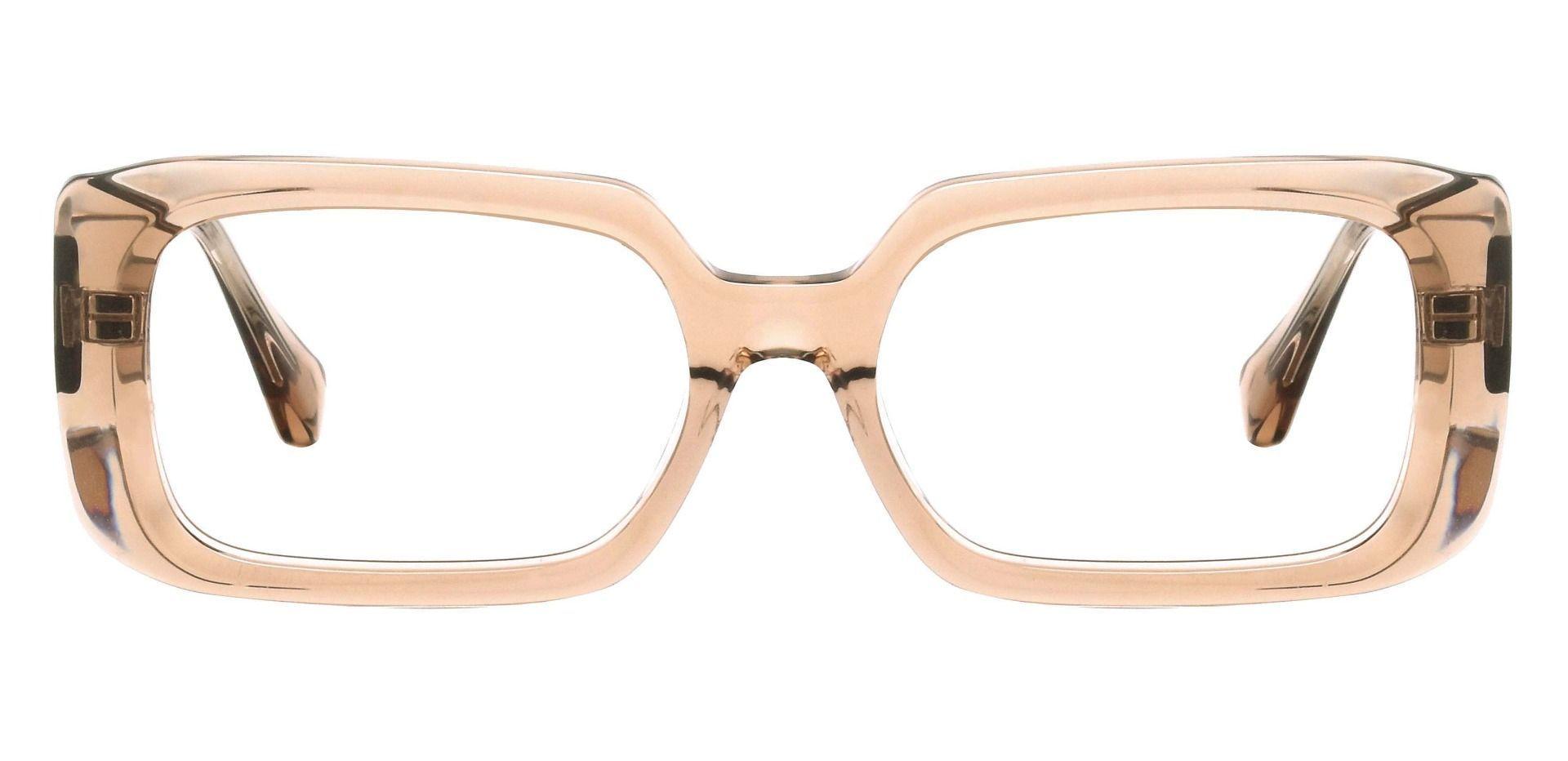 Grimes Rectangle Prescription Glasses - Brown