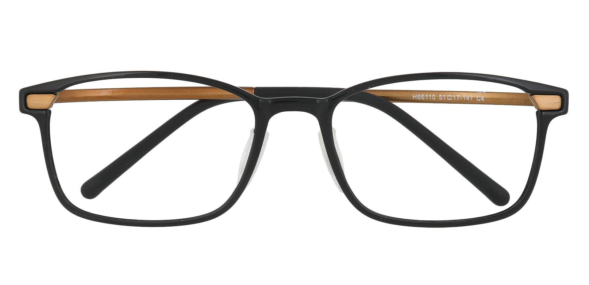 Weaver Rectangle Prescription Glasses - Gold