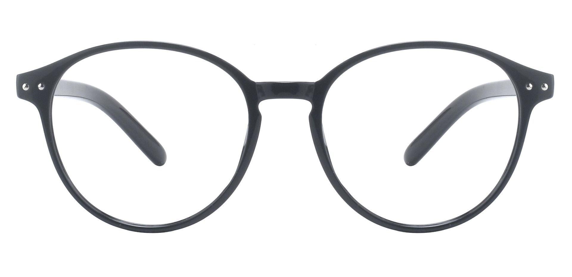 Sanger Round Prescription Glasses - Black