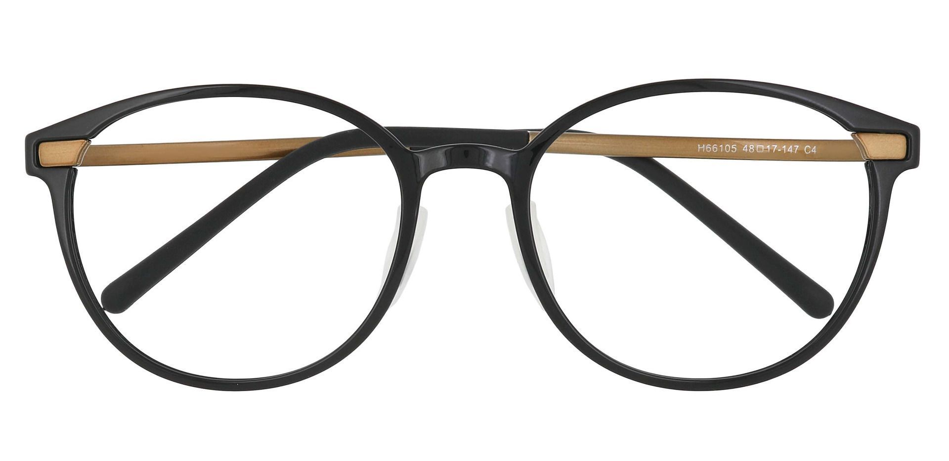 Anniston Round Prescription Glasses - Gold