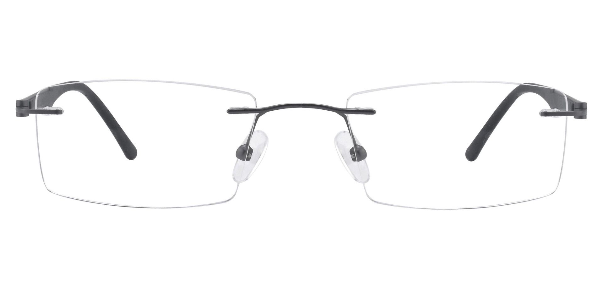 Jerome Rimless Prescription Glasses - Black