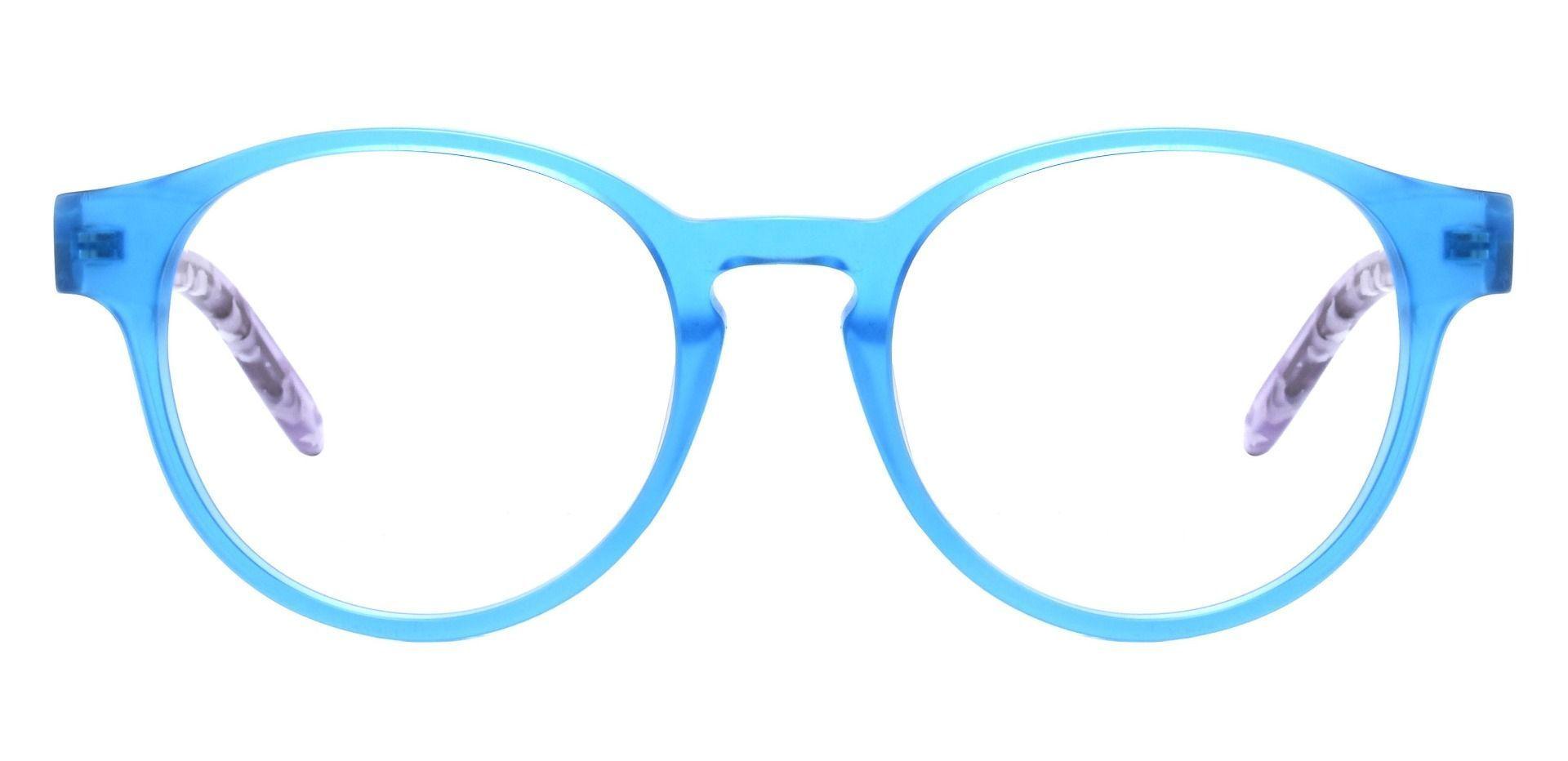 Harrison Round Prescription Glasses - Blue
