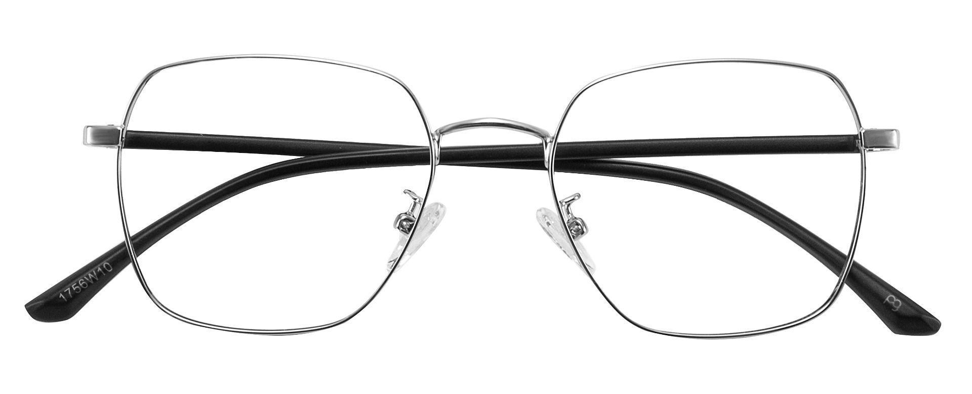 Bryant Square Prescription Glasses - Silver