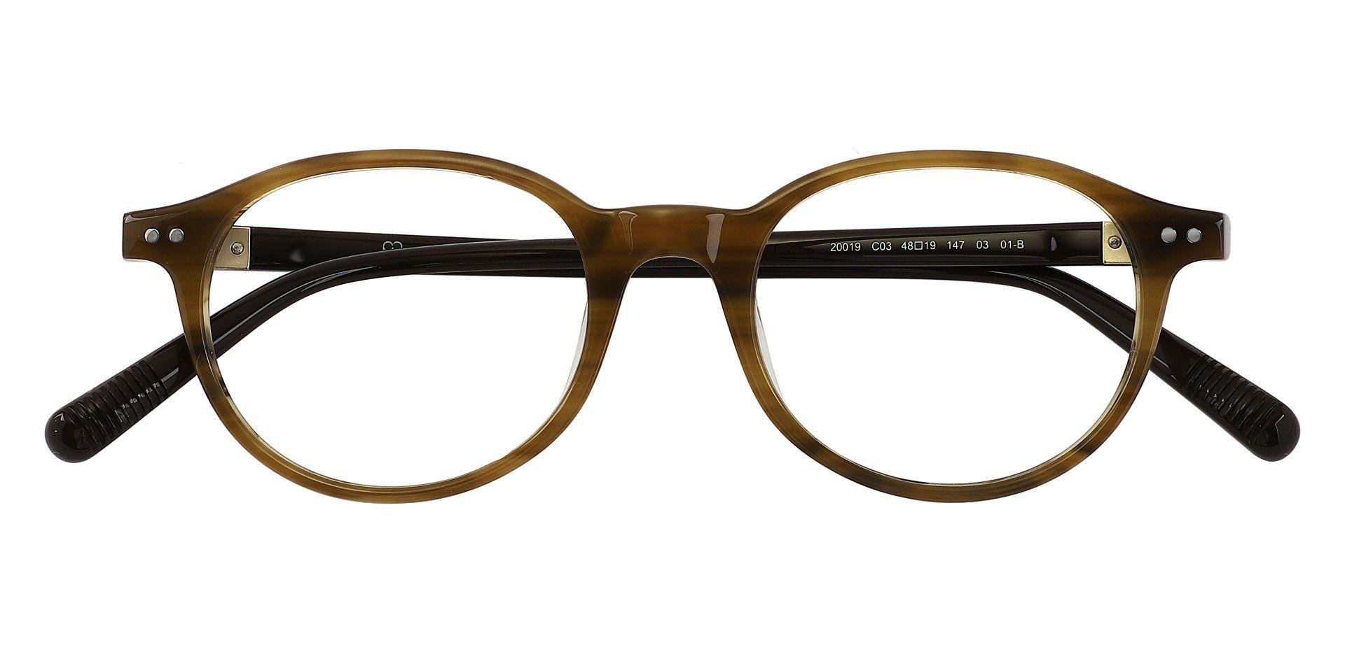 Avon Oval Progressive Glasses - Brown