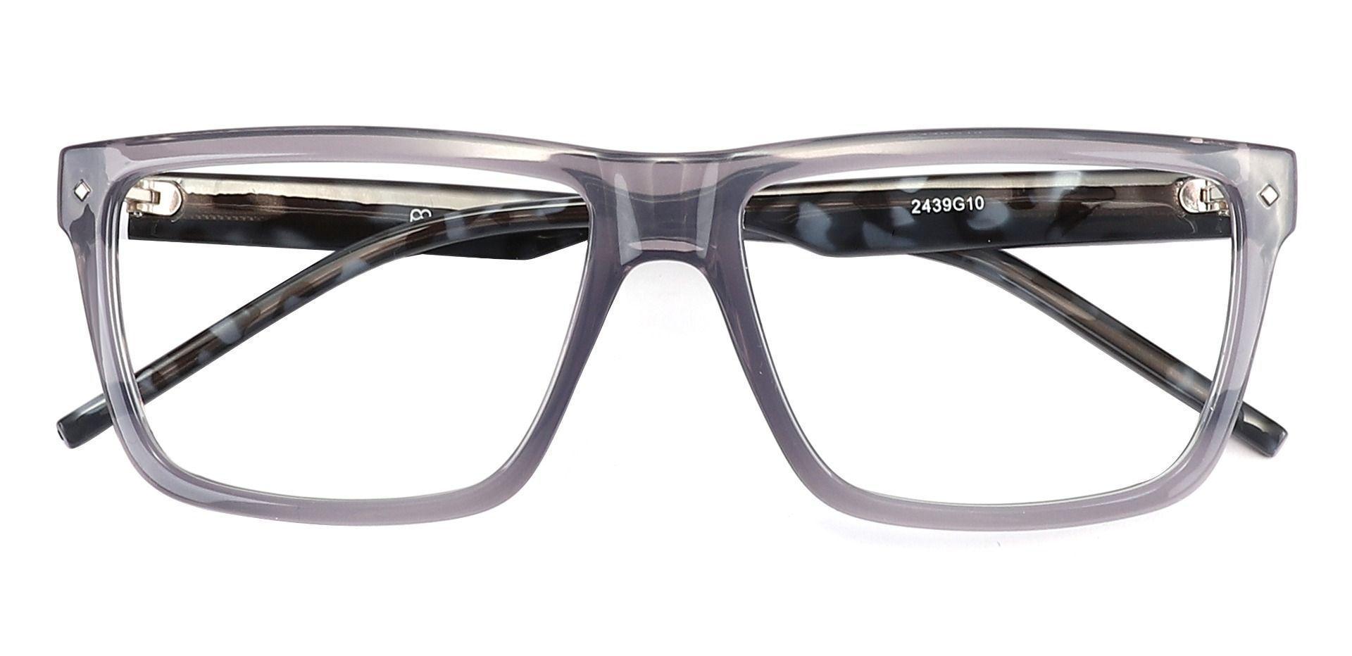 Marietta Rectangle Blue Light Blocking Glasses - Gray
