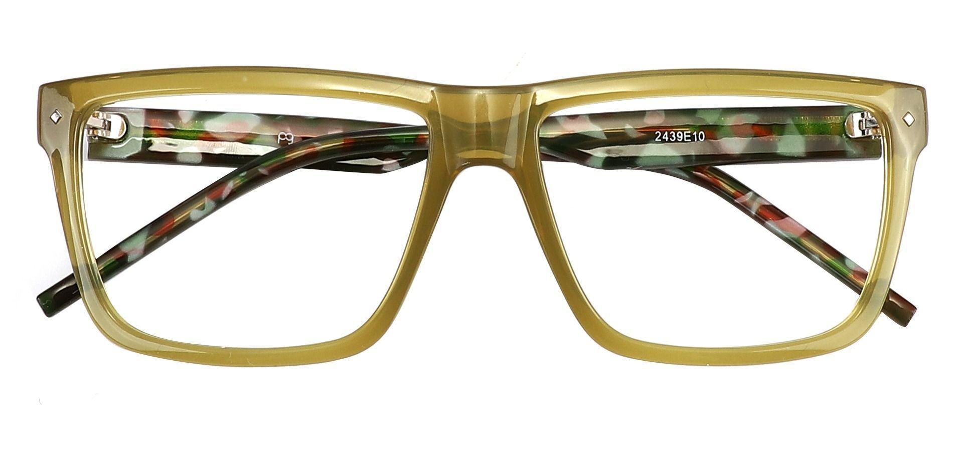Marietta Rectangle Non-Rx Glasses - Green