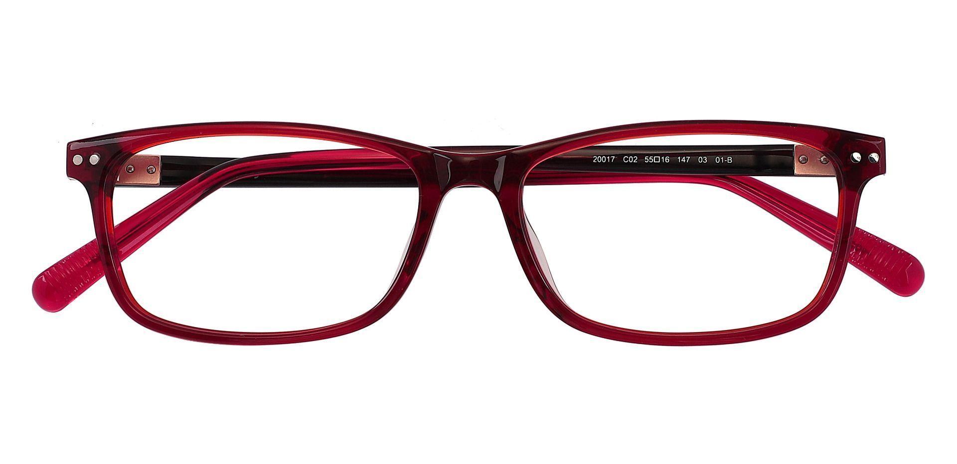Horatio Rectangle Eyeglasses Frame - Brown