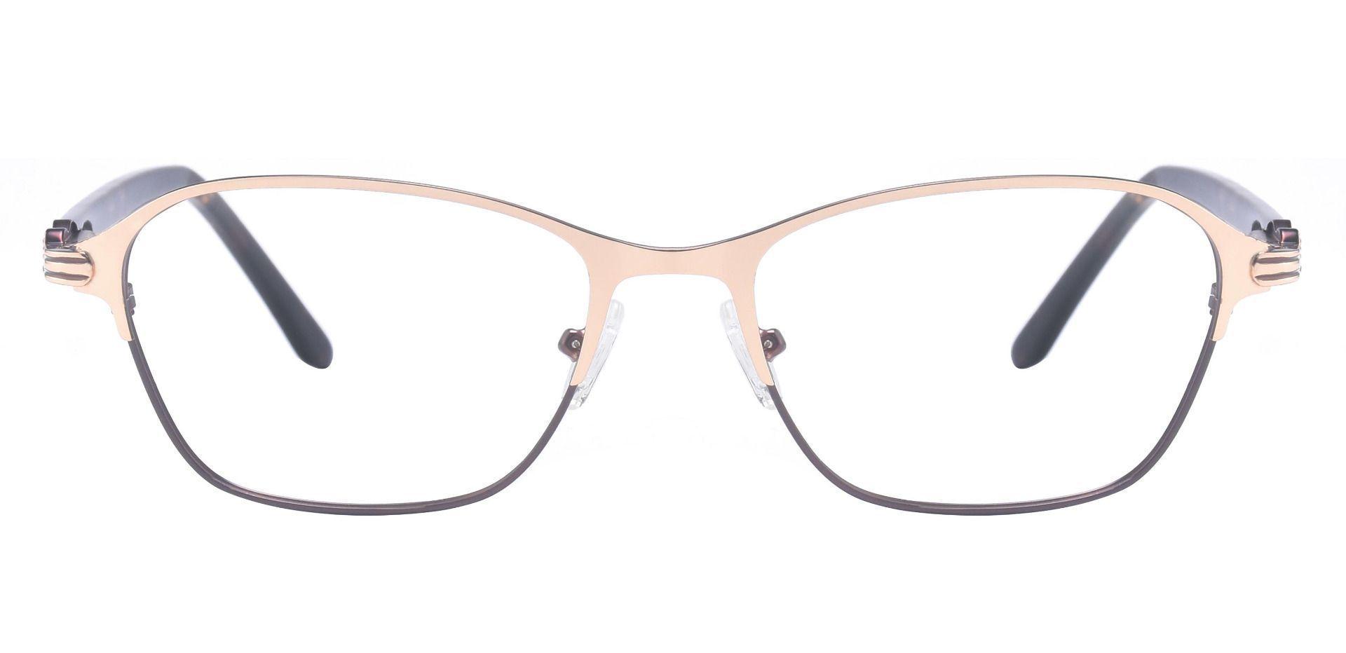 Maria Geometric Prescription Glasses - Gold
