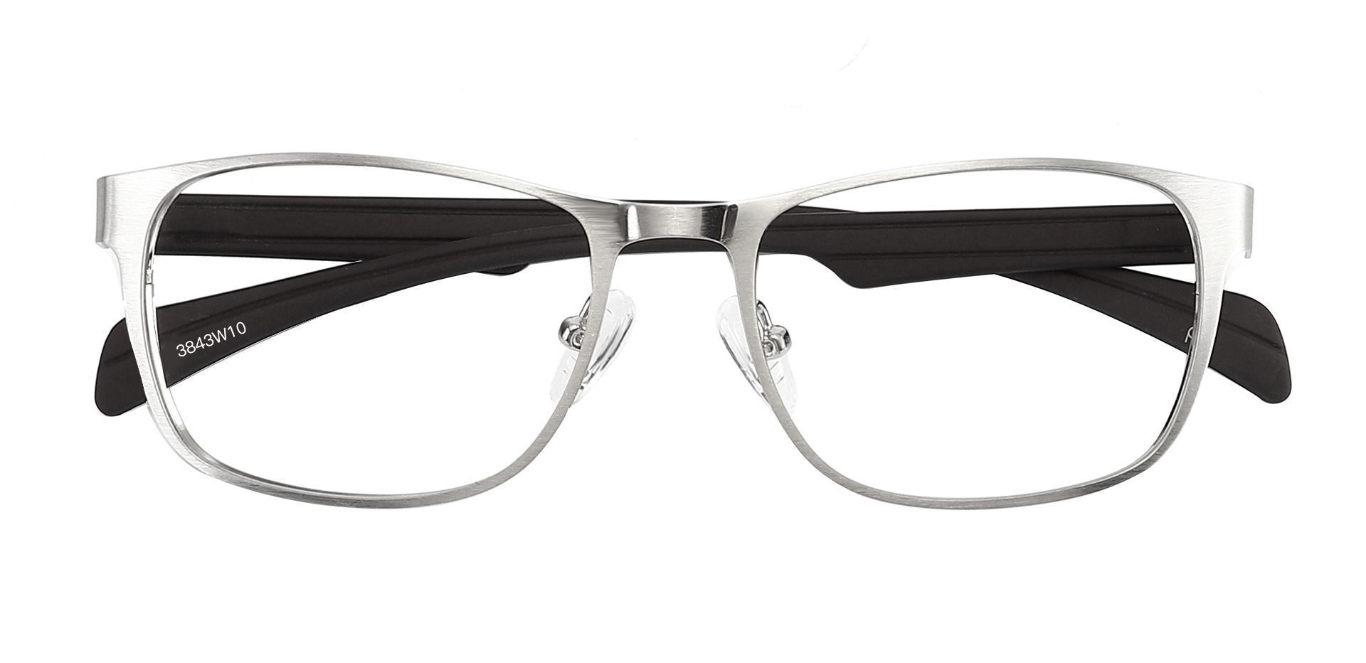 Duncan Rectangle Prescription Glasses - Silver