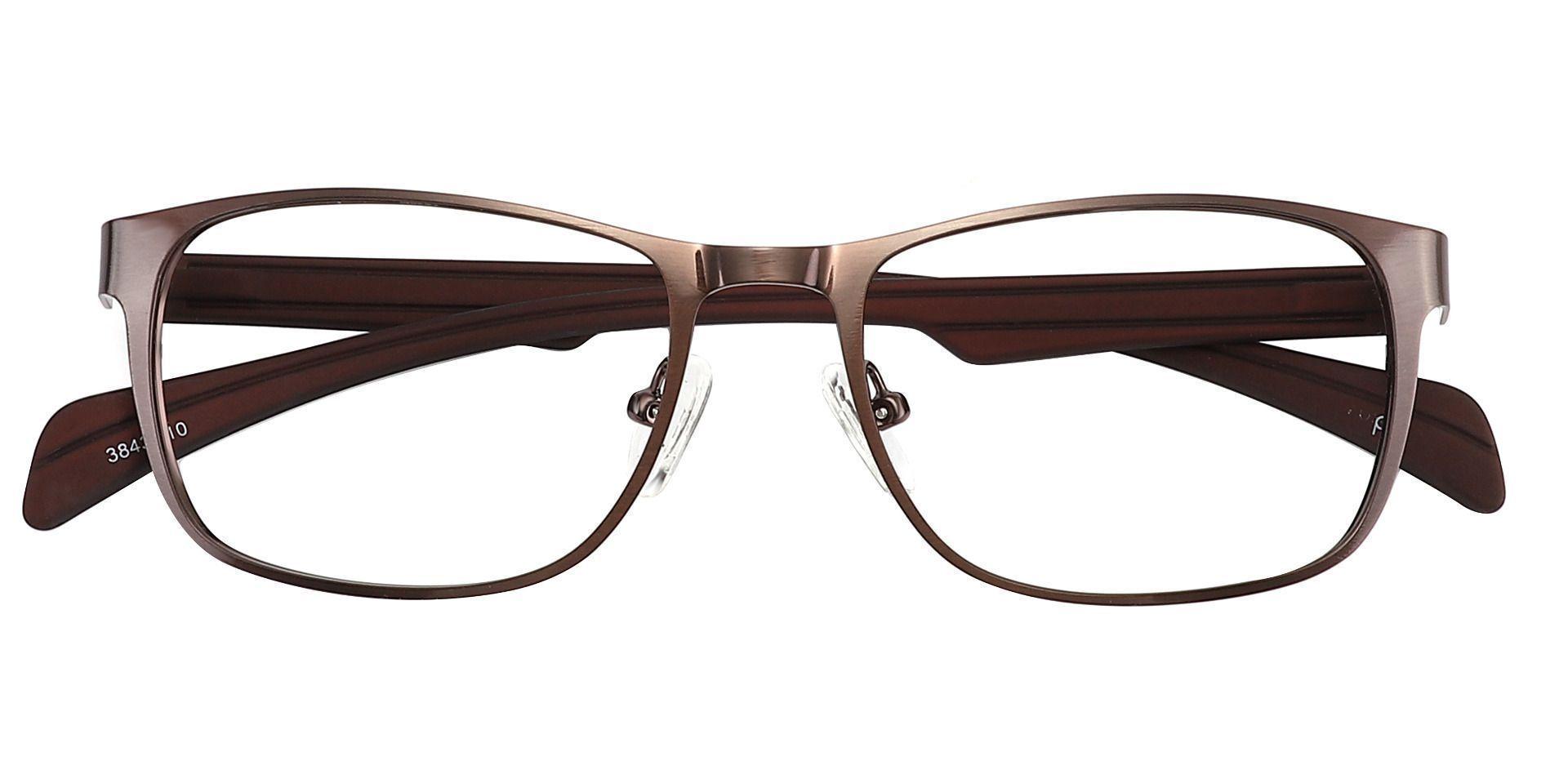 Duncan Rectangle Prescription Glasses - Brown