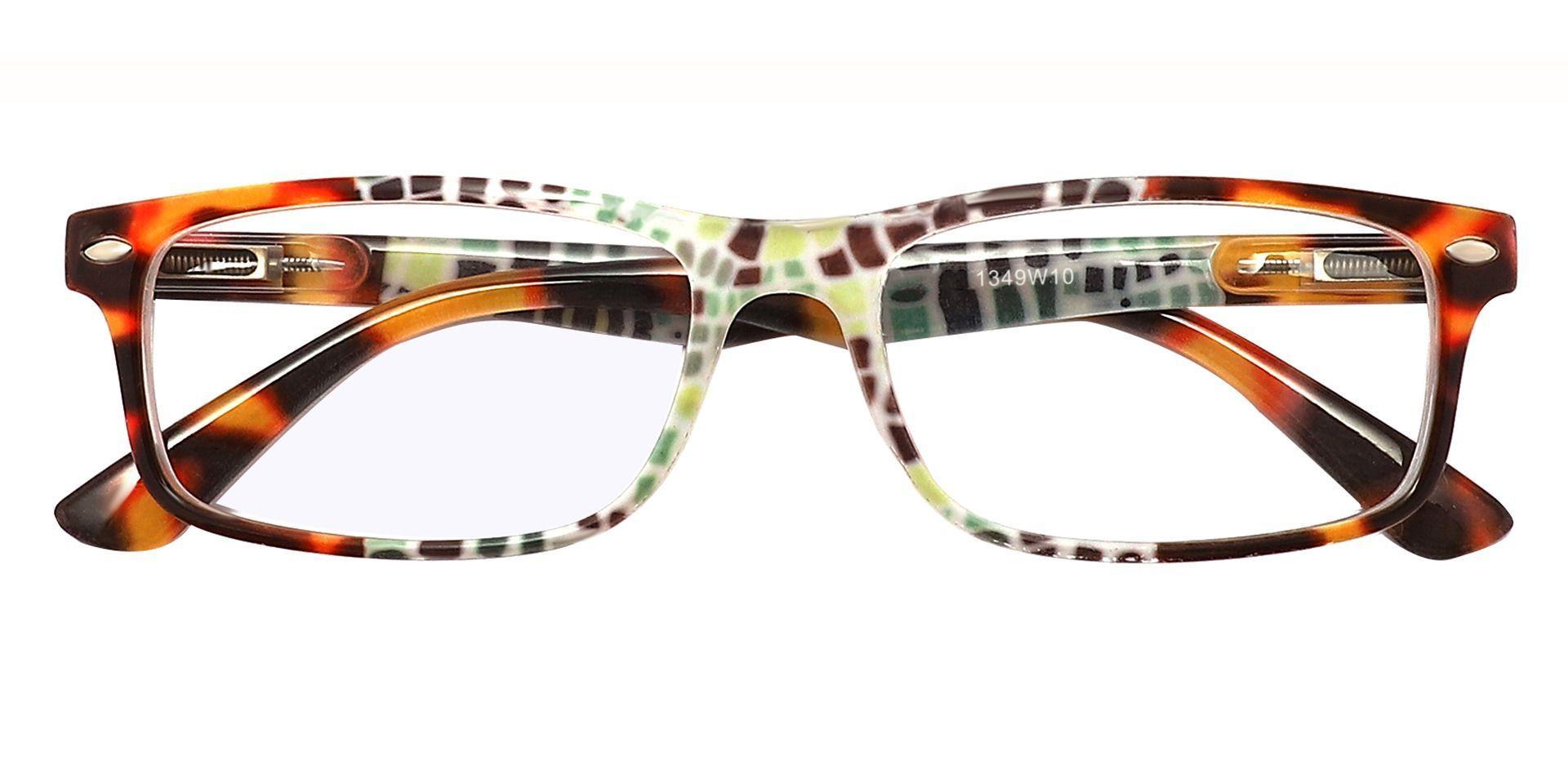 Elfrida Rectangle Eyeglasses Frame - Floral