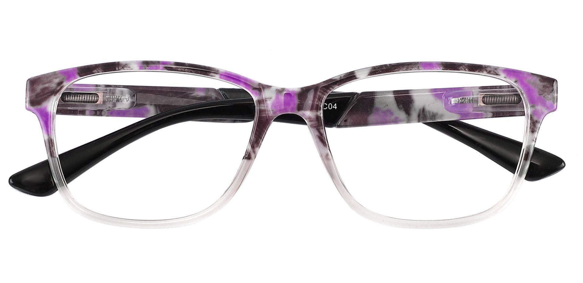 Catalina Rectangle Non-Rx Glasses - Purple