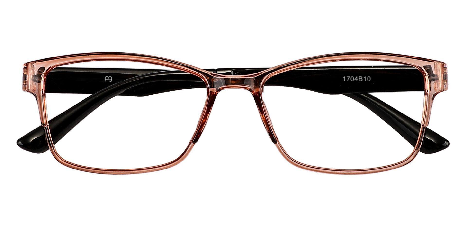 Cantwell Rectangle Progressive Glasses - Brown