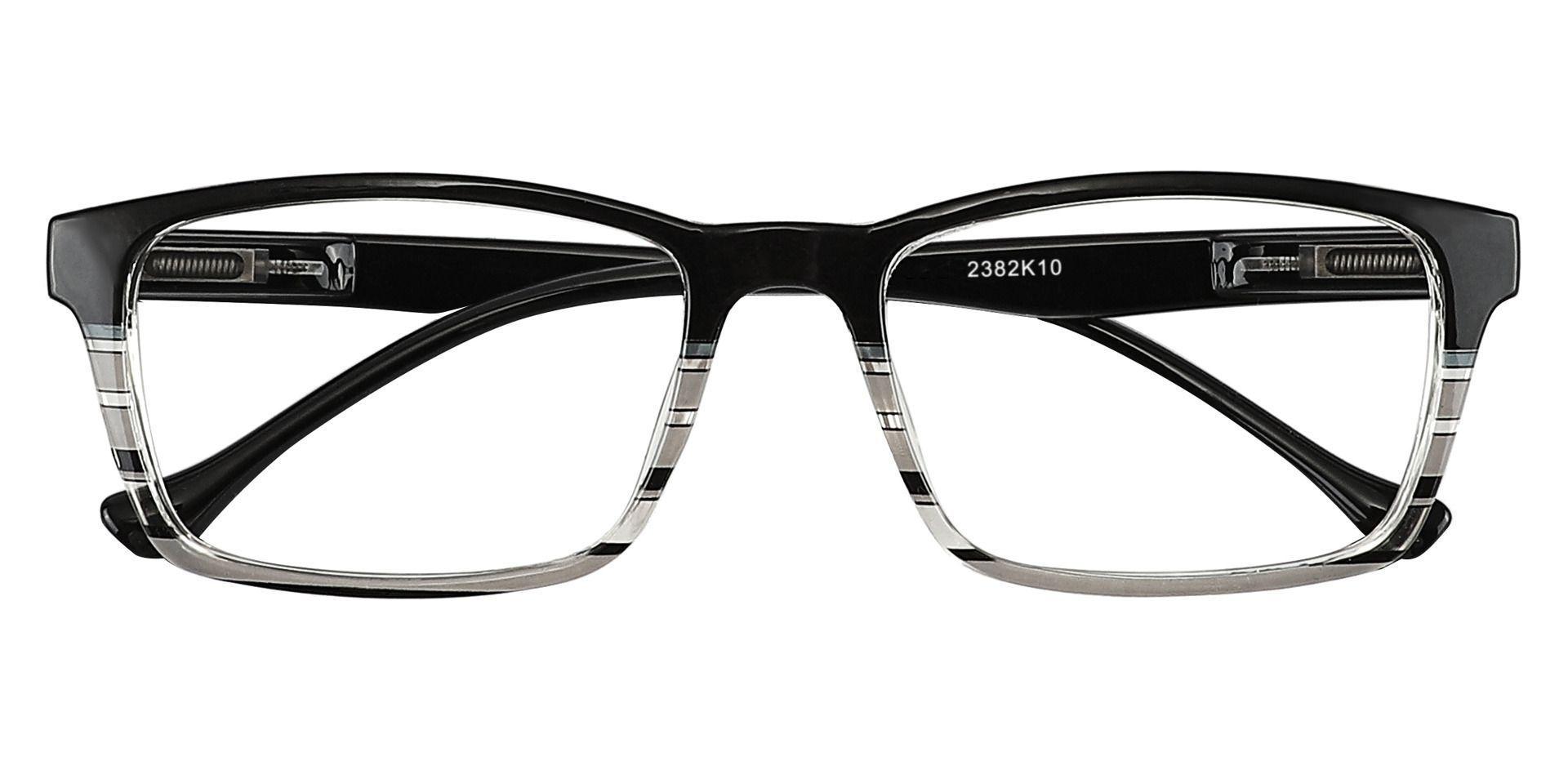 Booth Rectangle Non-Rx Glasses - Black