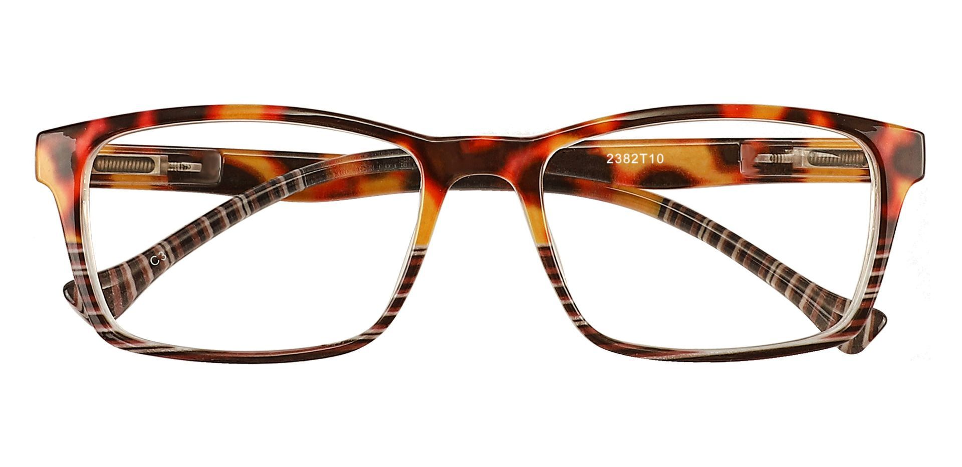 Booth Rectangle Prescription Glasses - Tortoise